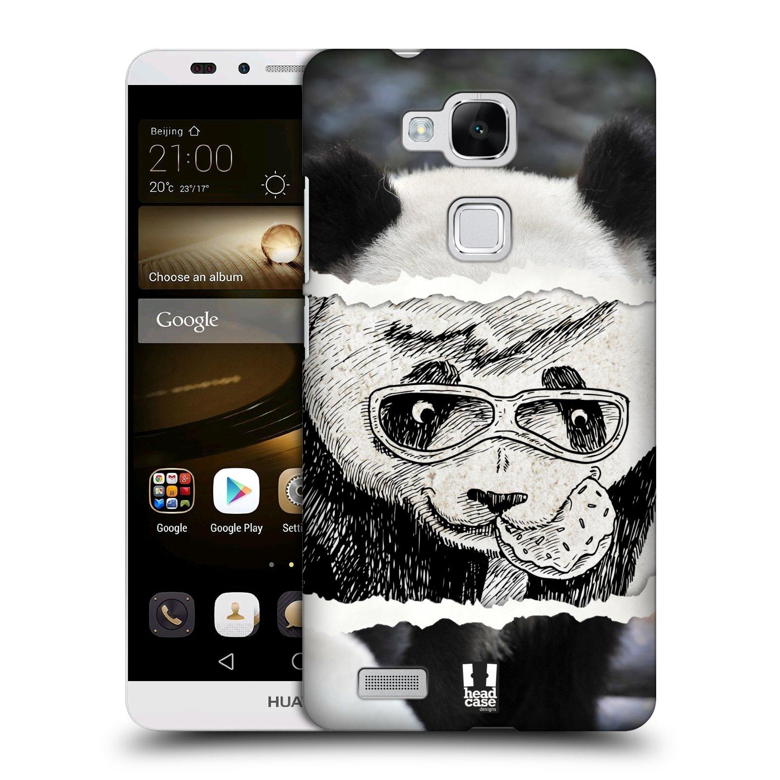 HEAD CASE plastový obal na mobil Huawei Mate 7 vzor zvířata koláž roztomilá panda