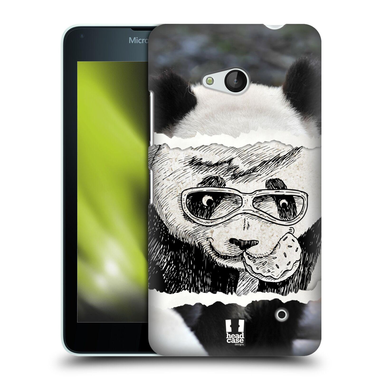 HEAD CASE plastový obal na mobil Nokia Lumia 640 vzor zvířata koláž roztomilá panda