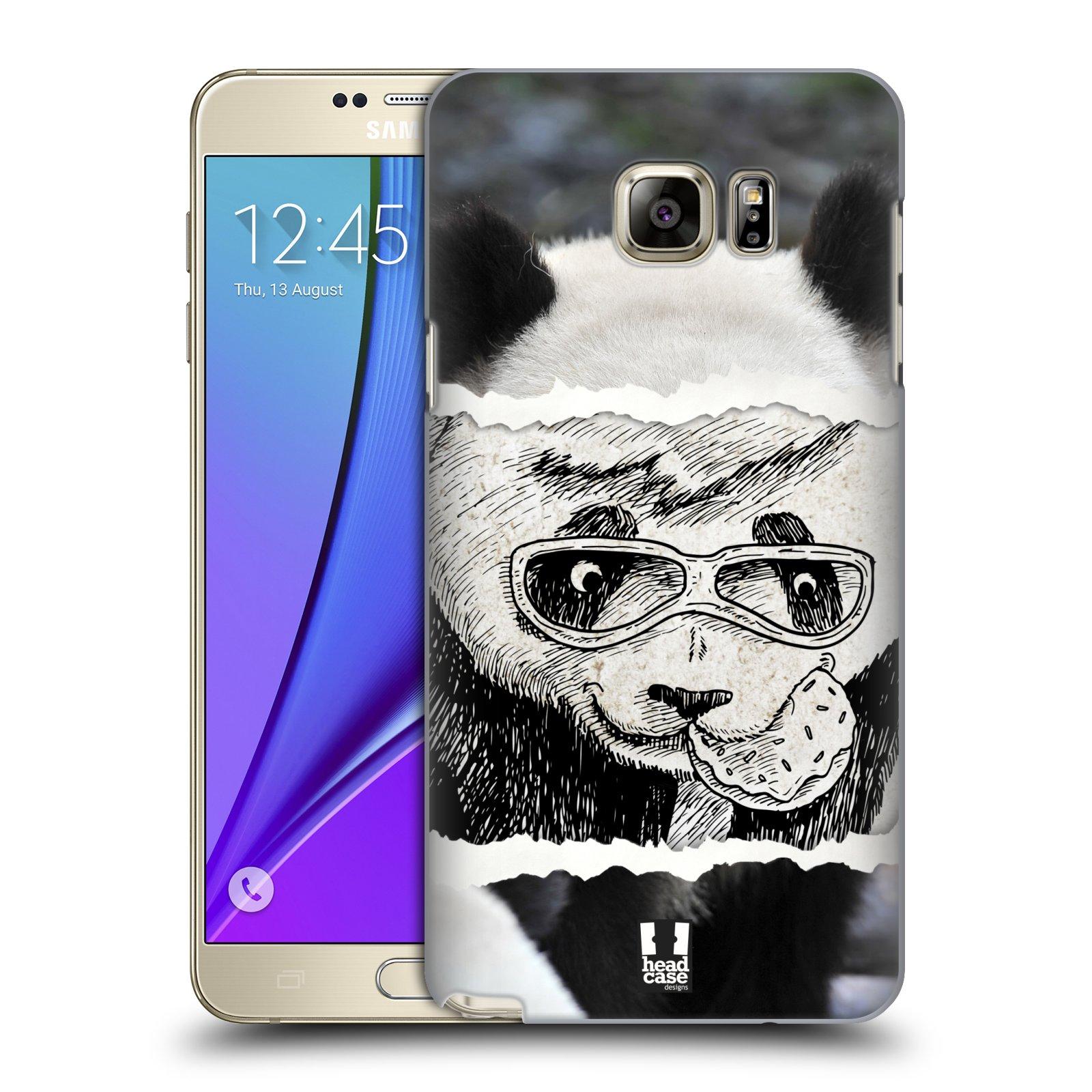 HEAD CASE plastový obal na mobil SAMSUNG Galaxy Note 5 (N920) vzor zvířata koláž roztomilá panda