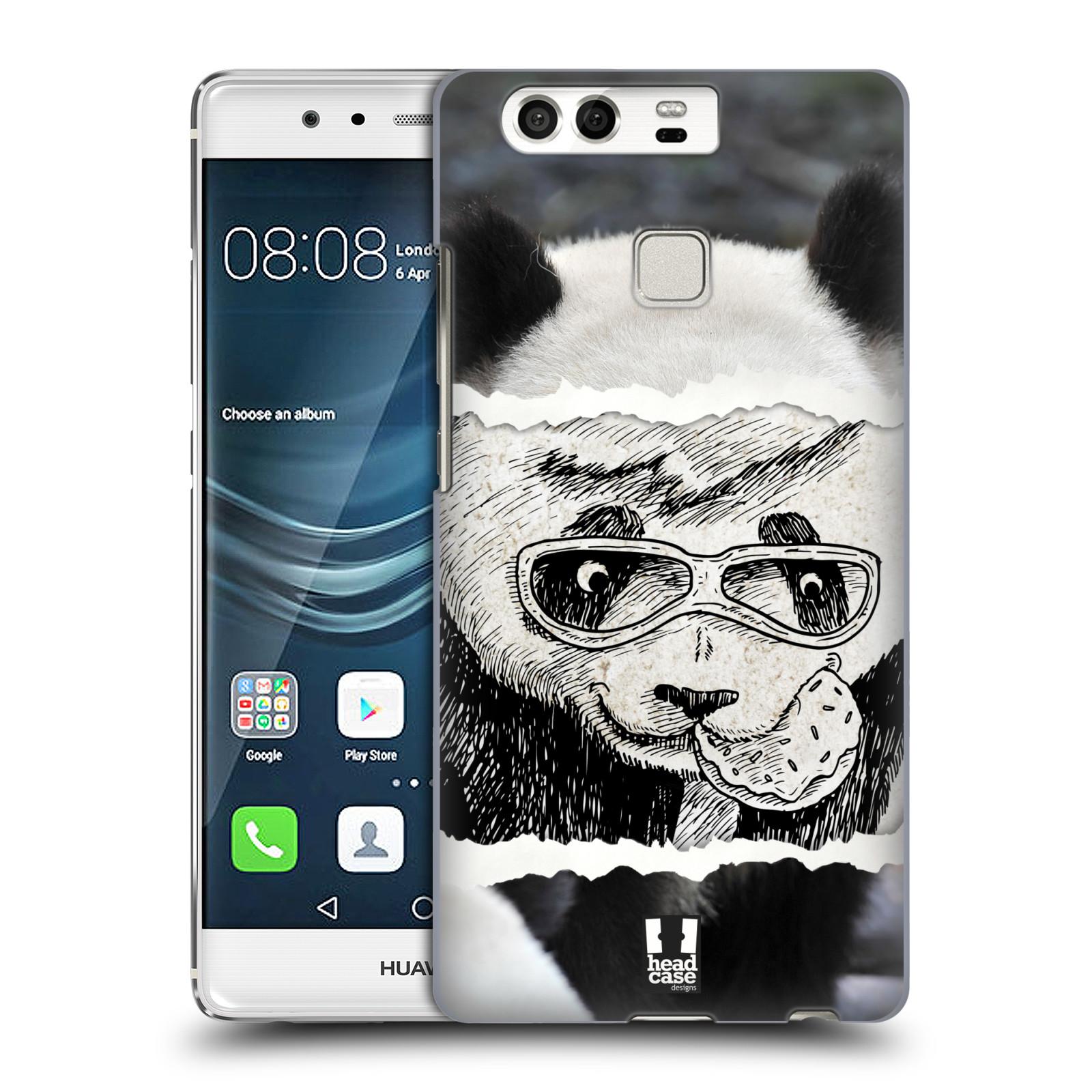 HEAD CASE plastový obal na mobil Huawei P9 / P9 DUAL SIM vzor zvířata koláž roztomilá panda