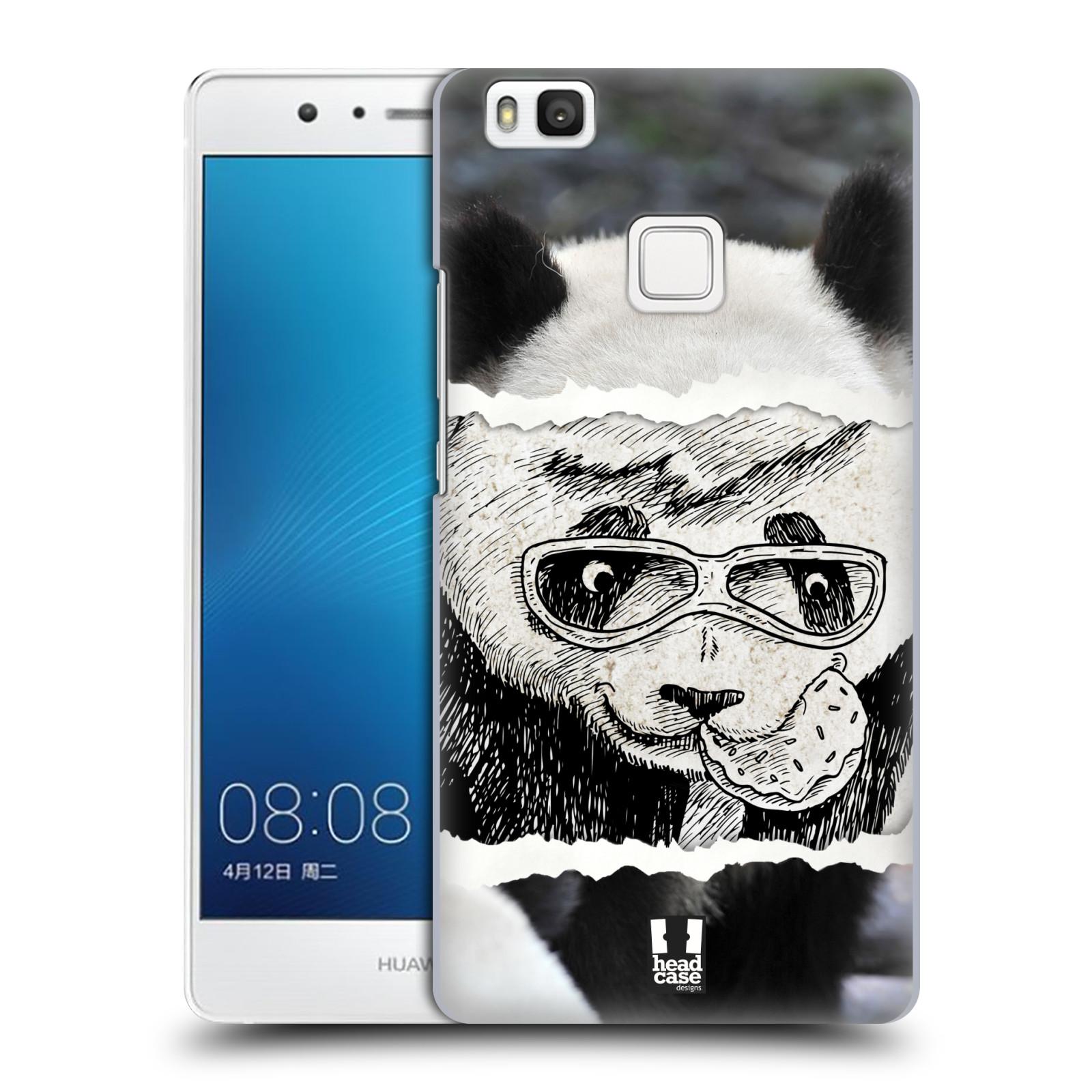 HEAD CASE plastový obal na mobil Huawei P9 LITE / P9 LITE DUAL SIM vzor zvířata koláž roztomilá panda