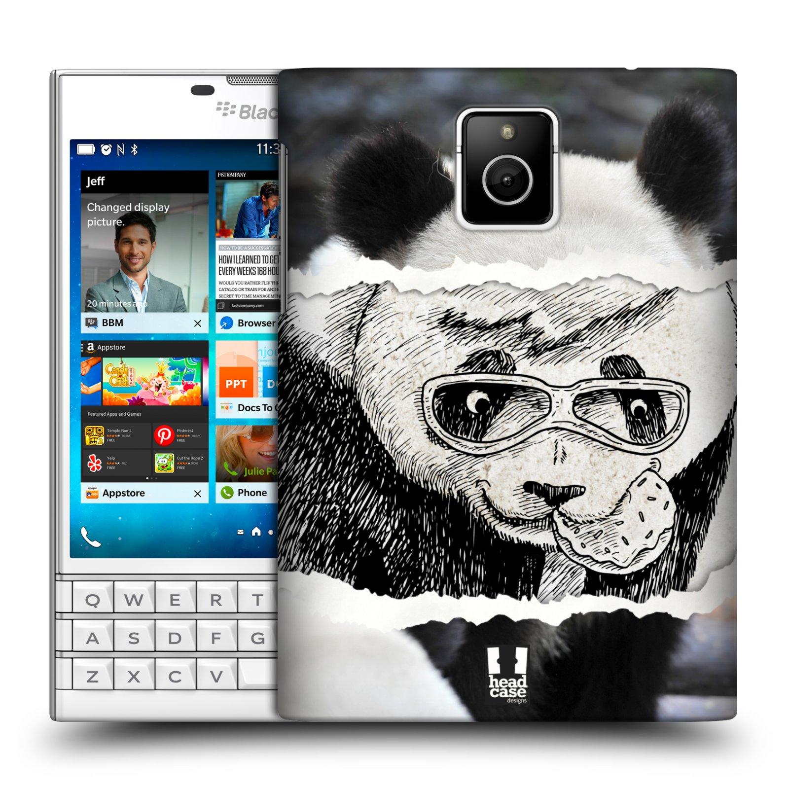 HEAD CASE plastový obal na mobil BlackBerry Passport vzor zvířata koláž roztomilá panda