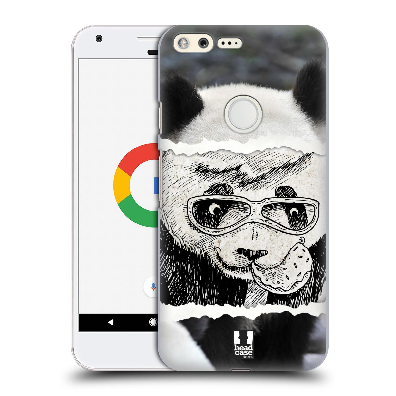 HEAD CASE plastový obal na mobil GOOGLE Pixel vzor zvířata koláž roztomilá panda