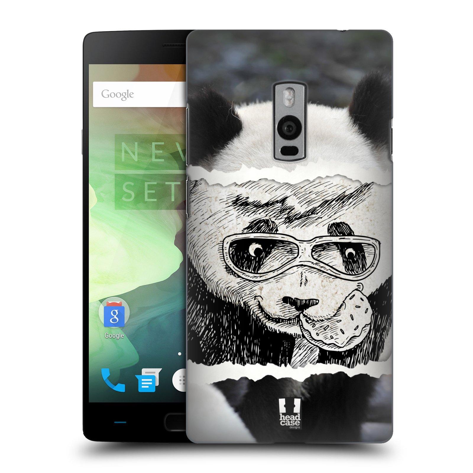 HEAD CASE pevný plastový obal na mobil OnePlus 2  ( TWO ) vzor zvířata koláž roztomilá panda