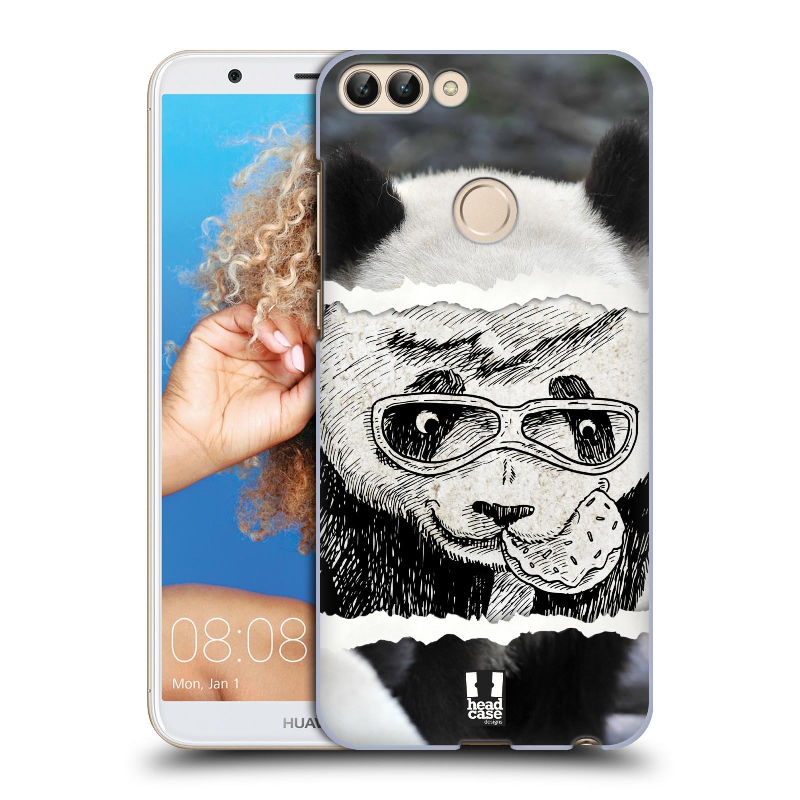 HEAD CASE plastový obal na mobil Huawei P Smart vzor zvířata koláž roztomilá panda