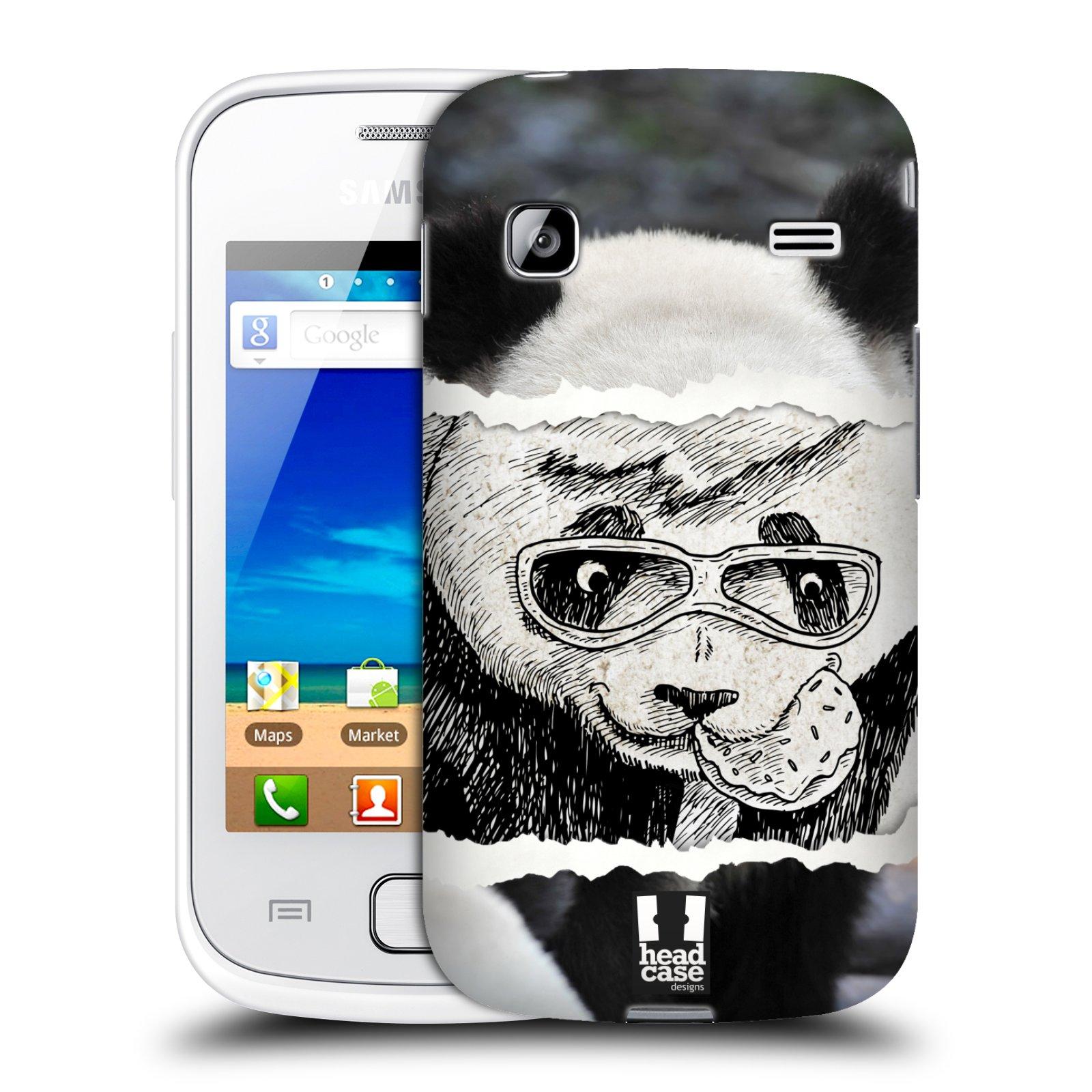 HEAD CASE plastový obal na mobil SAMSUNG GALAXY GIO (S5660) vzor zvířata koláž roztomilá panda