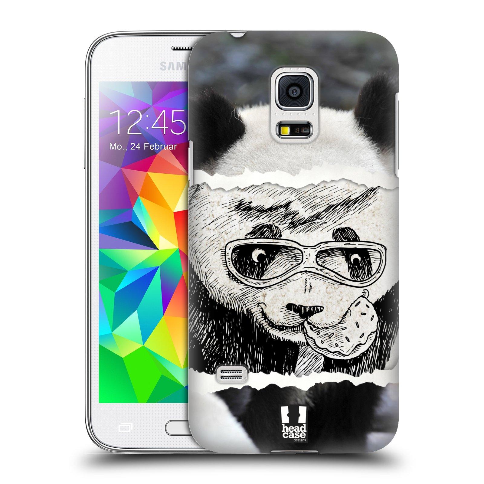 HEAD CASE plastový obal na mobil SAMSUNG Galaxy S5 MINI / S5 MINI DUOS vzor zvířata koláž roztomilá panda