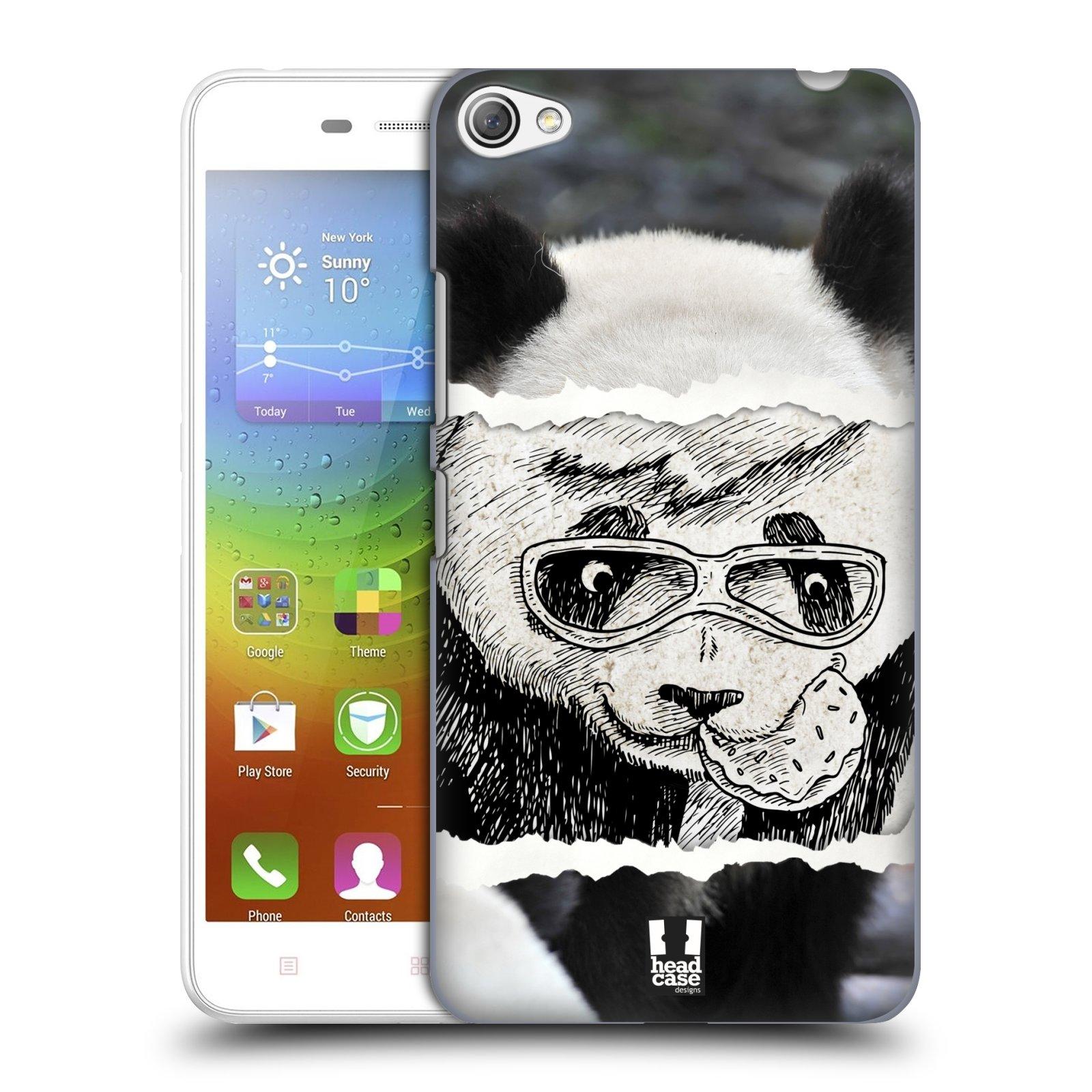 HEAD CASE pevný plastový obal na mobil LENOVO S60 / LENOVO S60 DUAL SIM vzor zvířata koláž roztomilá panda