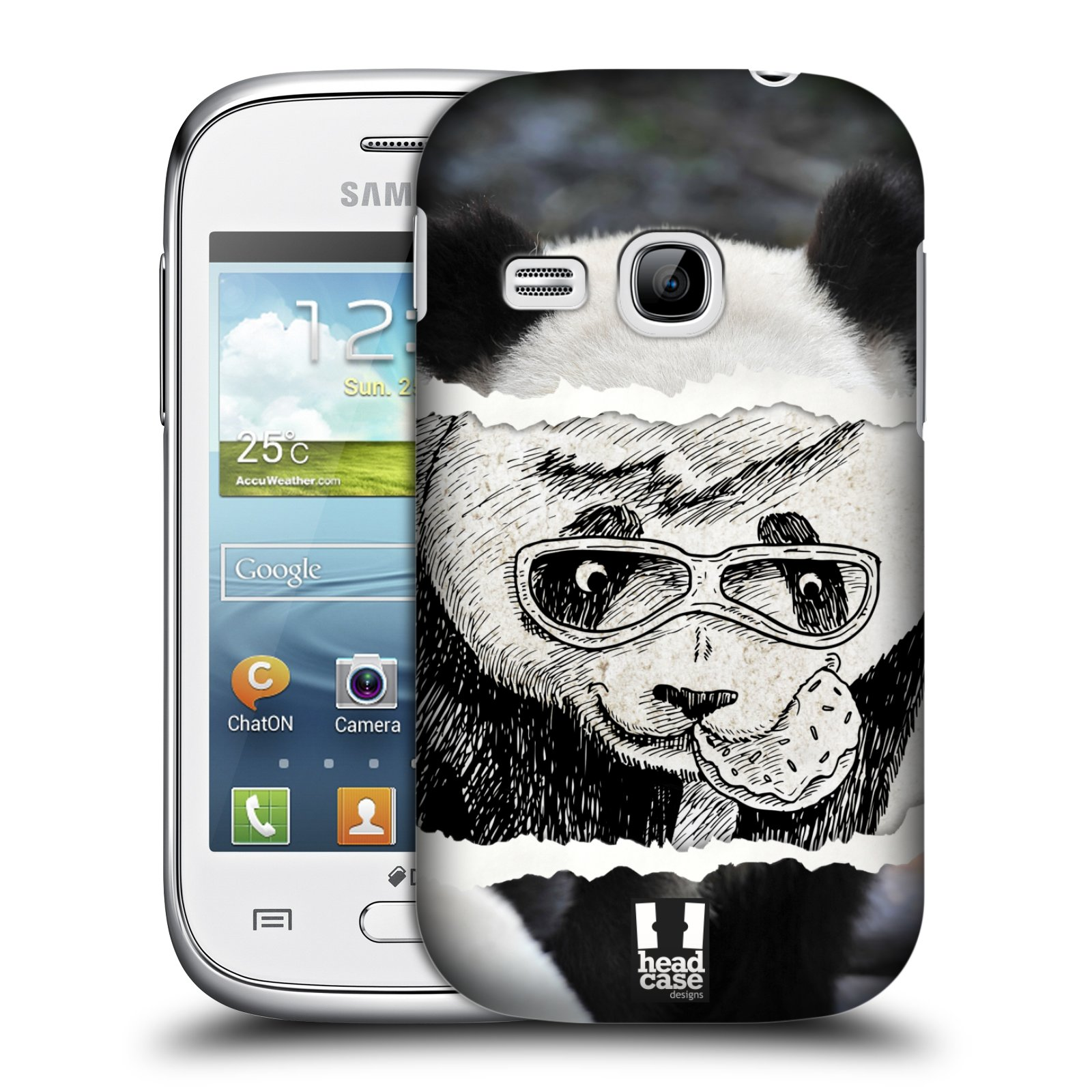 HEAD CASE plastový obal na mobil SAMSUNG Galaxy Young S6310 vzor zvířata koláž roztomilá panda