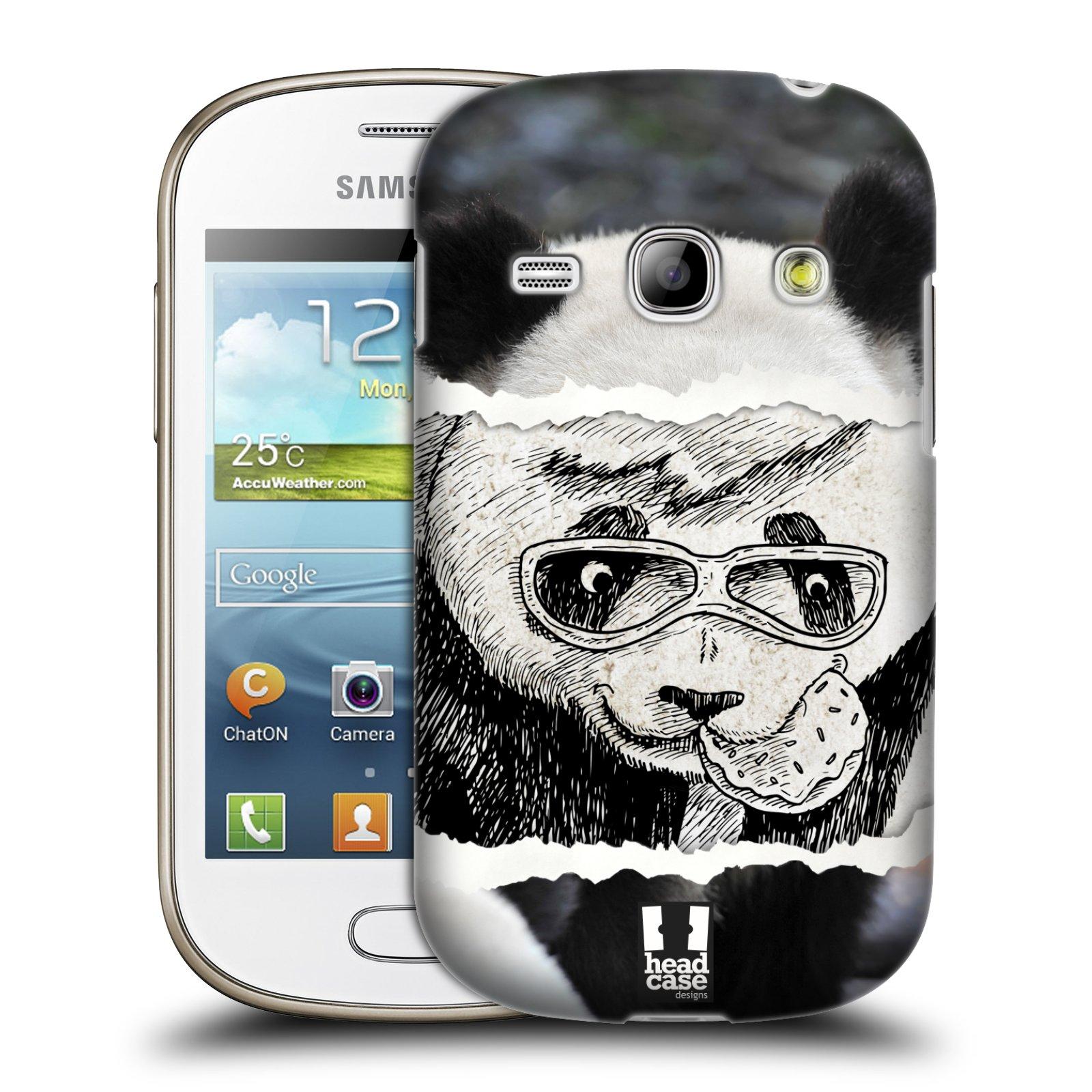 HEAD CASE plastový obal na mobil SAMSUNG GALAXY FAME (S6810) vzor zvířata koláž roztomilá panda