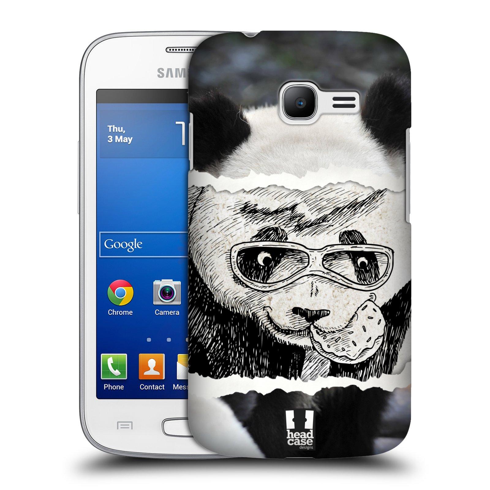 HEAD CASE plastový obal na mobil SAMSUNG GALAXY Star Pro S7260/S7262 DUOS vzor zvířata koláž roztomilá panda