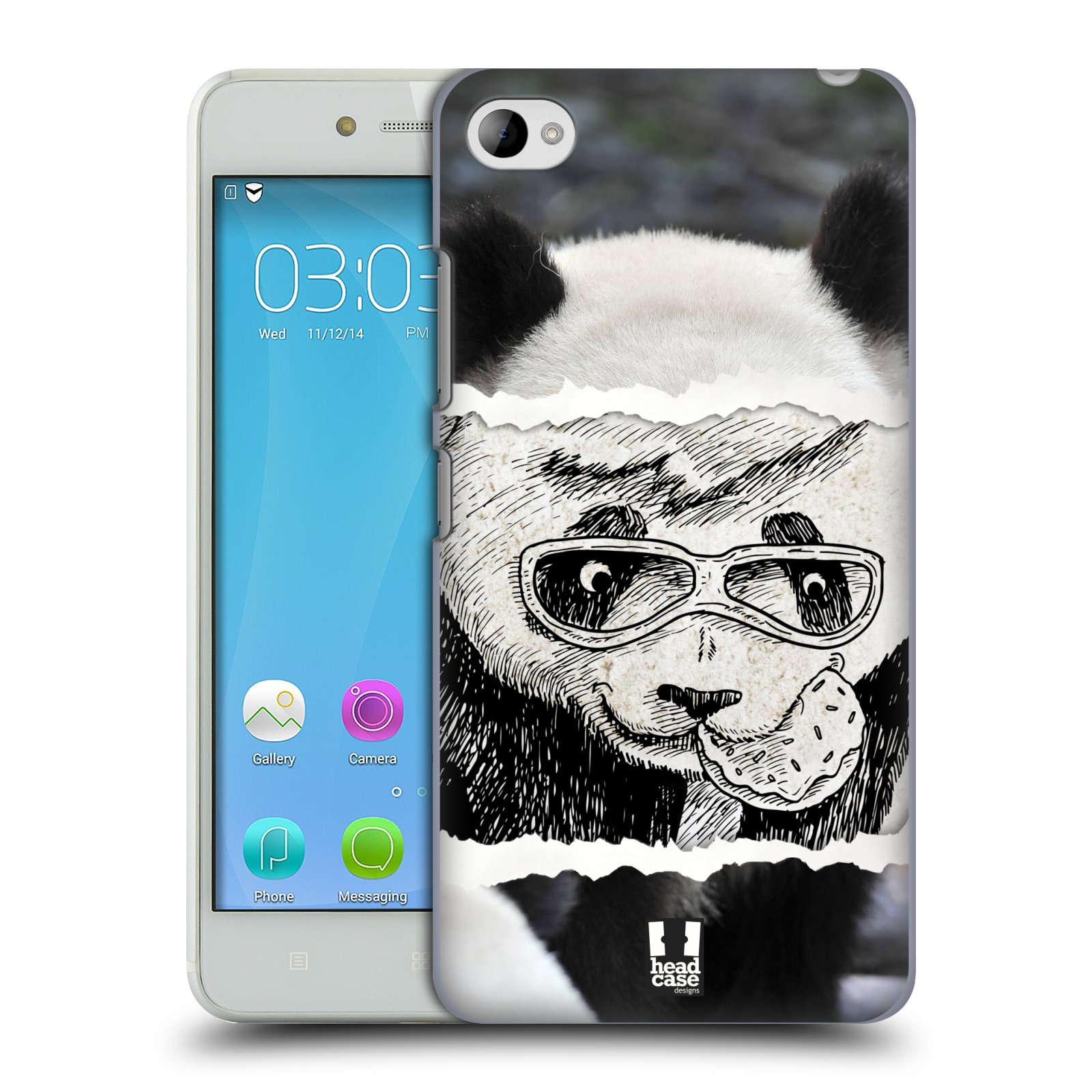 HEAD CASE pevný plastový obal na mobil LENOVO S90 vzor zvířata koláž roztomilá panda
