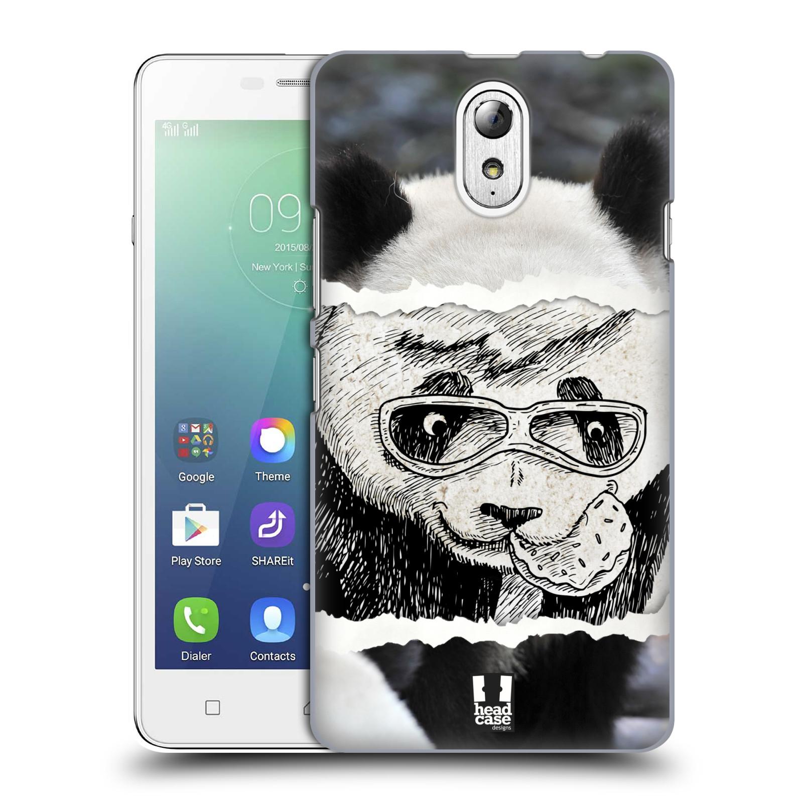 HEAD CASE pevný plastový obal na mobil LENOVO VIBE P1m / LENOVO VIBE p1m DUAL SIM vzor zvířata koláž roztomilá panda