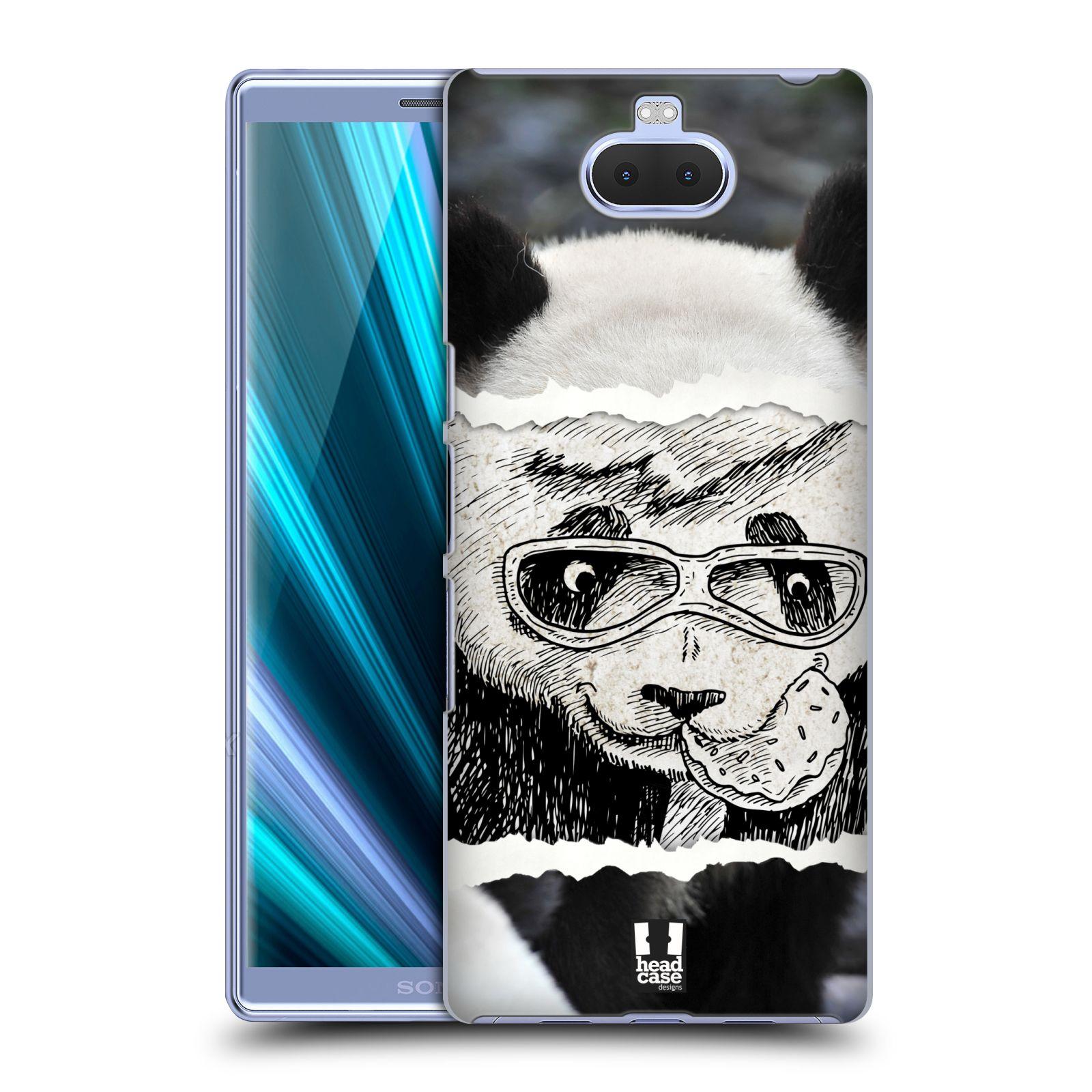 Pouzdro na mobil Sony Xperia 10 - Head Case - vzor zvířata koláž roztomilá panda