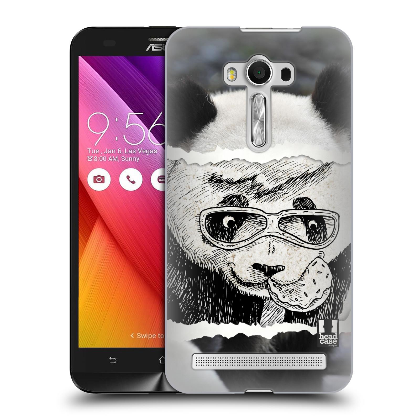 HEAD CASE plastový obal na mobil Asus Zenfone 2 LASER (5,5 displej ZE550KL) vzor zvířata koláž roztomilá panda