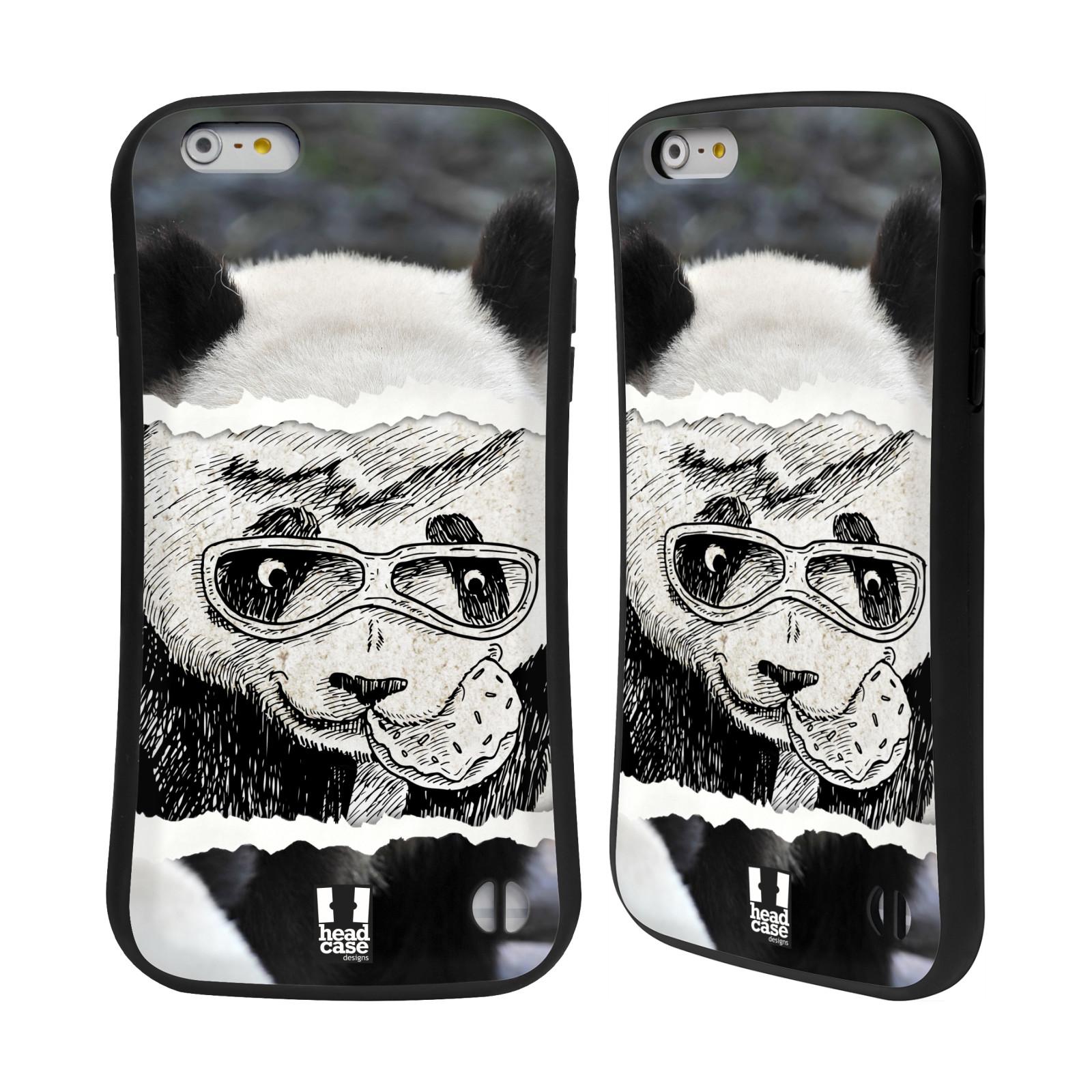 HEAD CASE silikon/plast odolný obal na mobil Apple Iphone 6 PLUS / 6S PLUS vzor zvířata koláž roztomilá panda