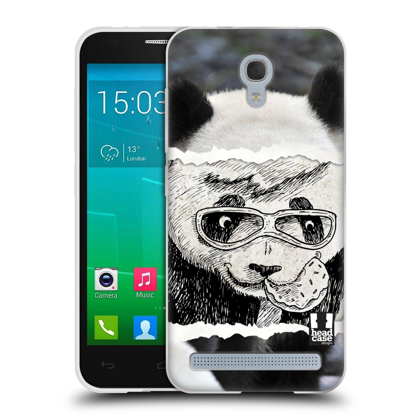 HEAD CASE silikonový obal na mobil Alcatel Idol 2 MINI S 6036Y vzor zvířata koláž roztomilá panda
