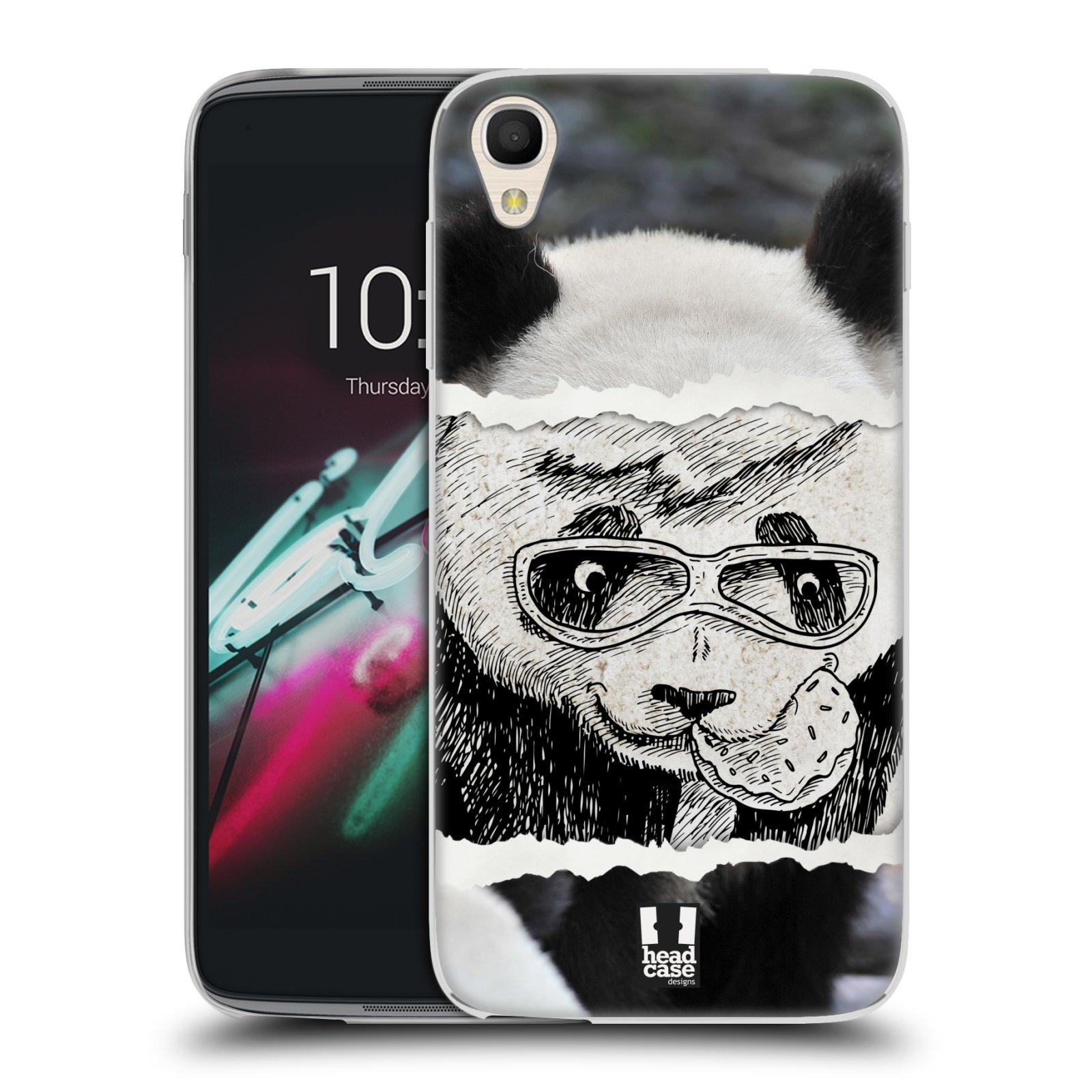HEAD CASE silikonový obal na mobil Alcatel Idol 3 OT-6039Y (4.7) vzor zvířata koláž roztomilá panda