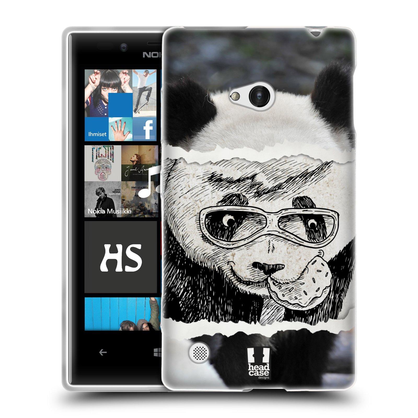HEAD CASE silikonový obal na mobil NOKIA Lumia 720 vzor zvířata koláž roztomilá panda