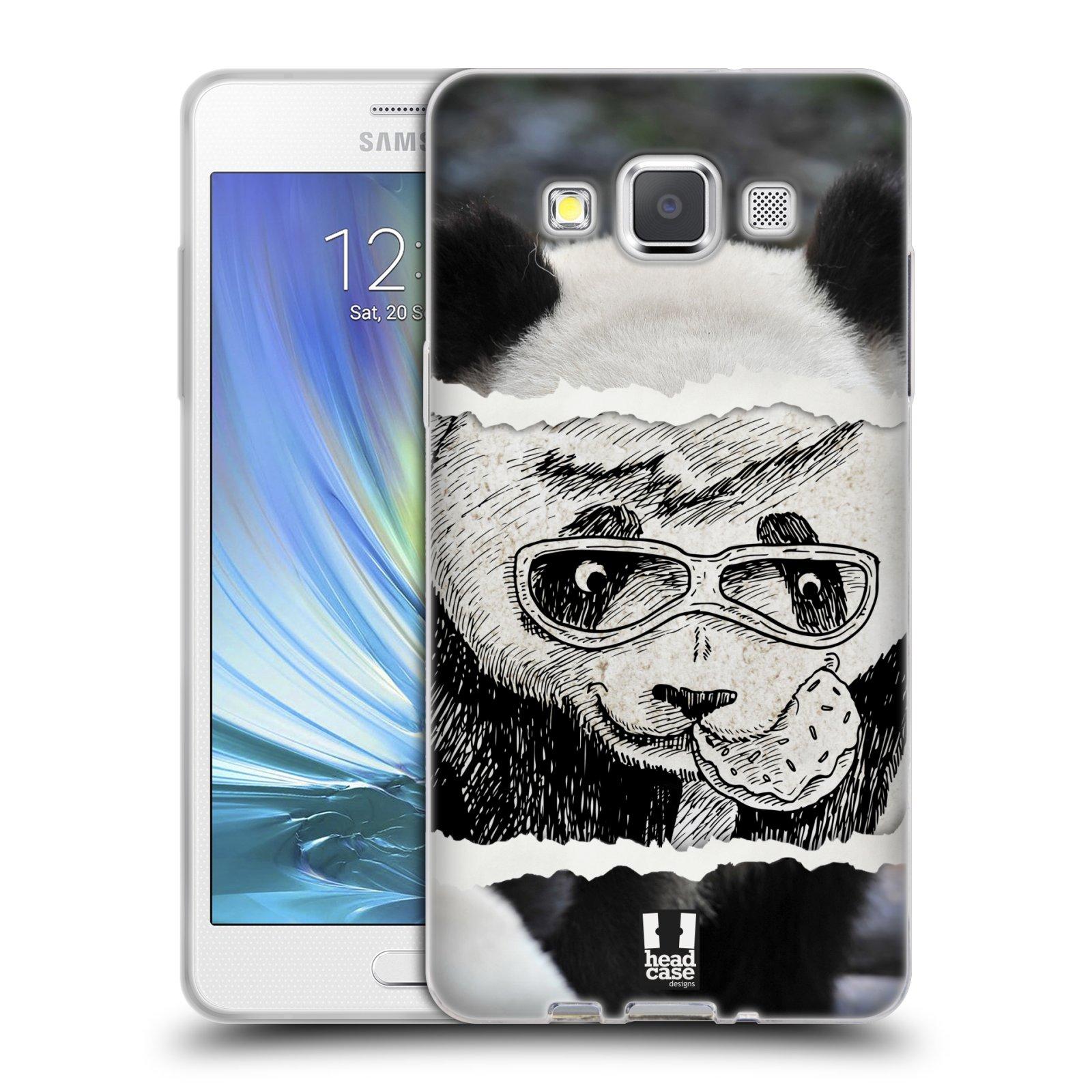 HEAD CASE silikonový obal na mobil Samsung Galaxy A5 vzor zvířata koláž roztomilá panda