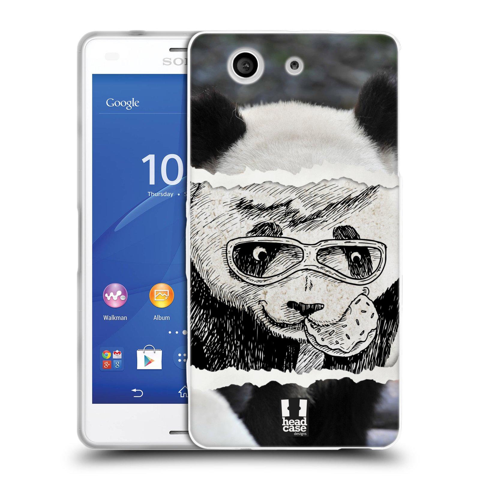 HEAD CASE silikonový obal na mobil Sony Xperia Z3 COMPACT (D5803) vzor zvířata koláž roztomilá panda