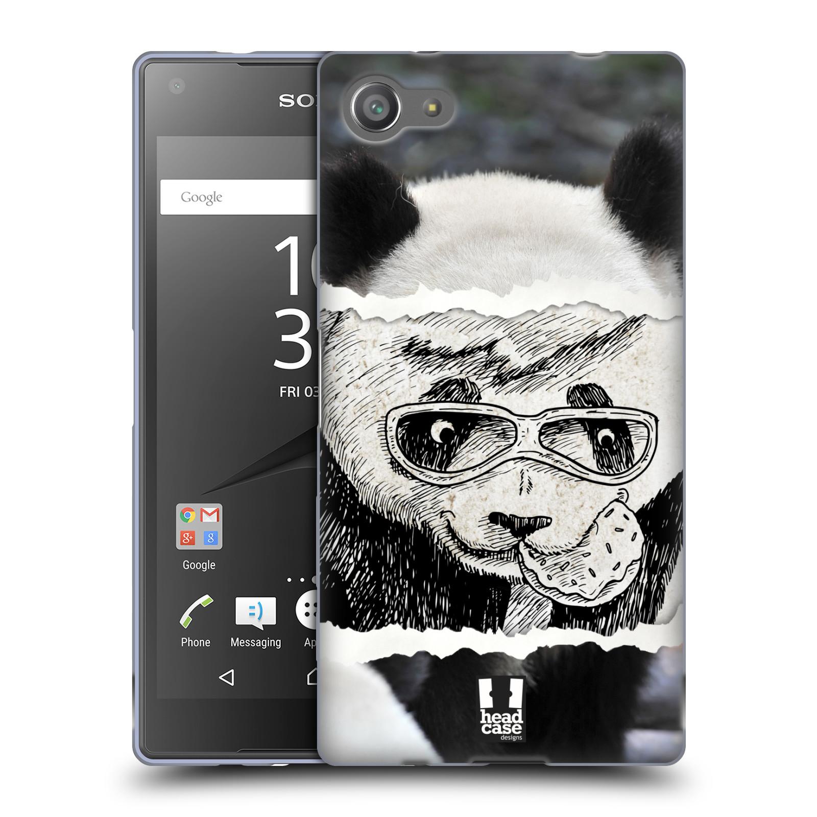 HEAD CASE silikonový obal na mobil Sony Xperia Z5 COMPACT vzor zvířata koláž roztomilá panda