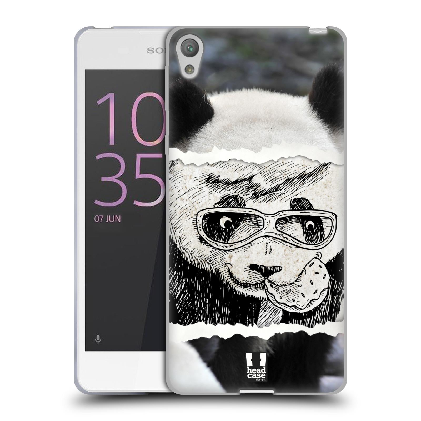 HEAD CASE silikonový obal na mobil SONY XPERIA E5 vzor zvířata koláž roztomilá panda