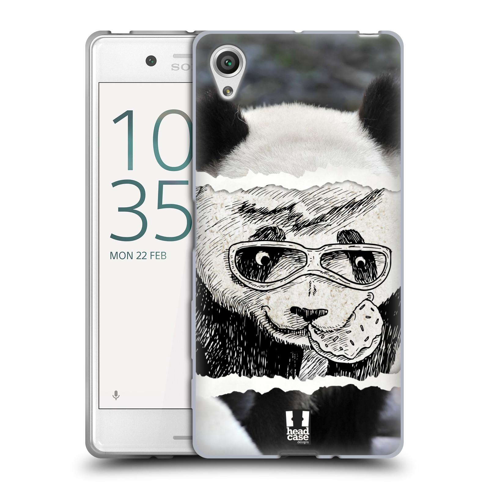 HEAD CASE silikonový obal na mobil Sony Xperia X / X DUAL vzor zvířata koláž roztomilá panda