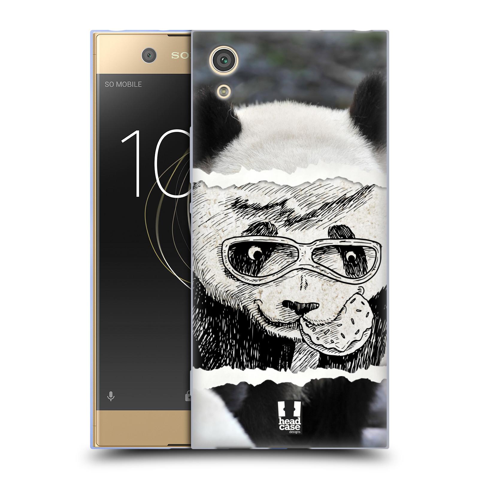 HEAD CASE silikonový obal na mobil Sony Xperia XA1 / XA1 DUAL SIM vzor zvířata koláž roztomilá panda
