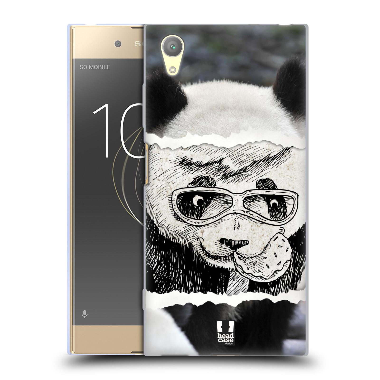 HEAD CASE silikonový obal na mobil Sony Xperia XA1 PLUS vzor zvířata koláž roztomilá panda