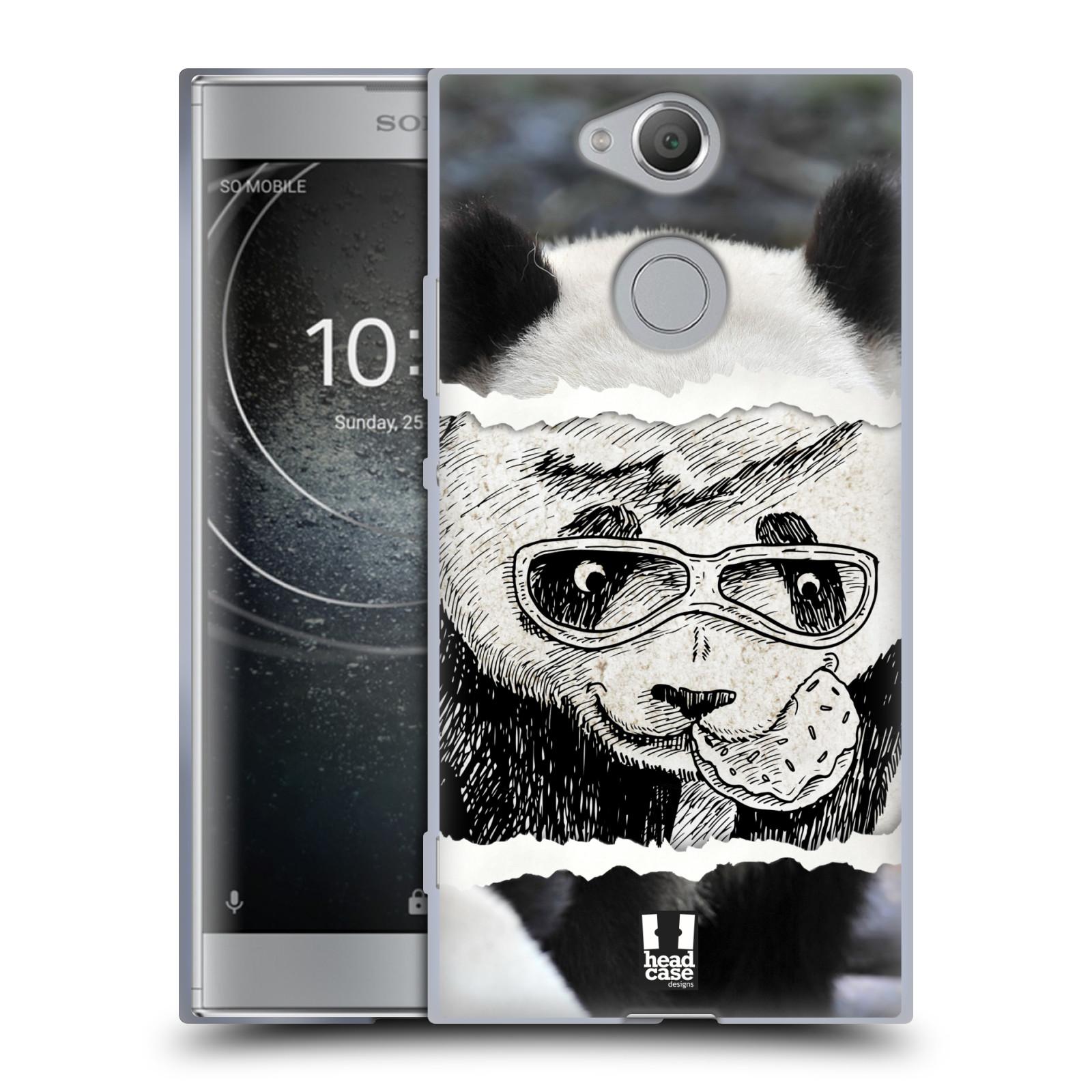 Pouzdro na mobil Sony Xperia XA2 (DUAL SIM, SINGLE SIM) vzor zvířata koláž roztomilá panda