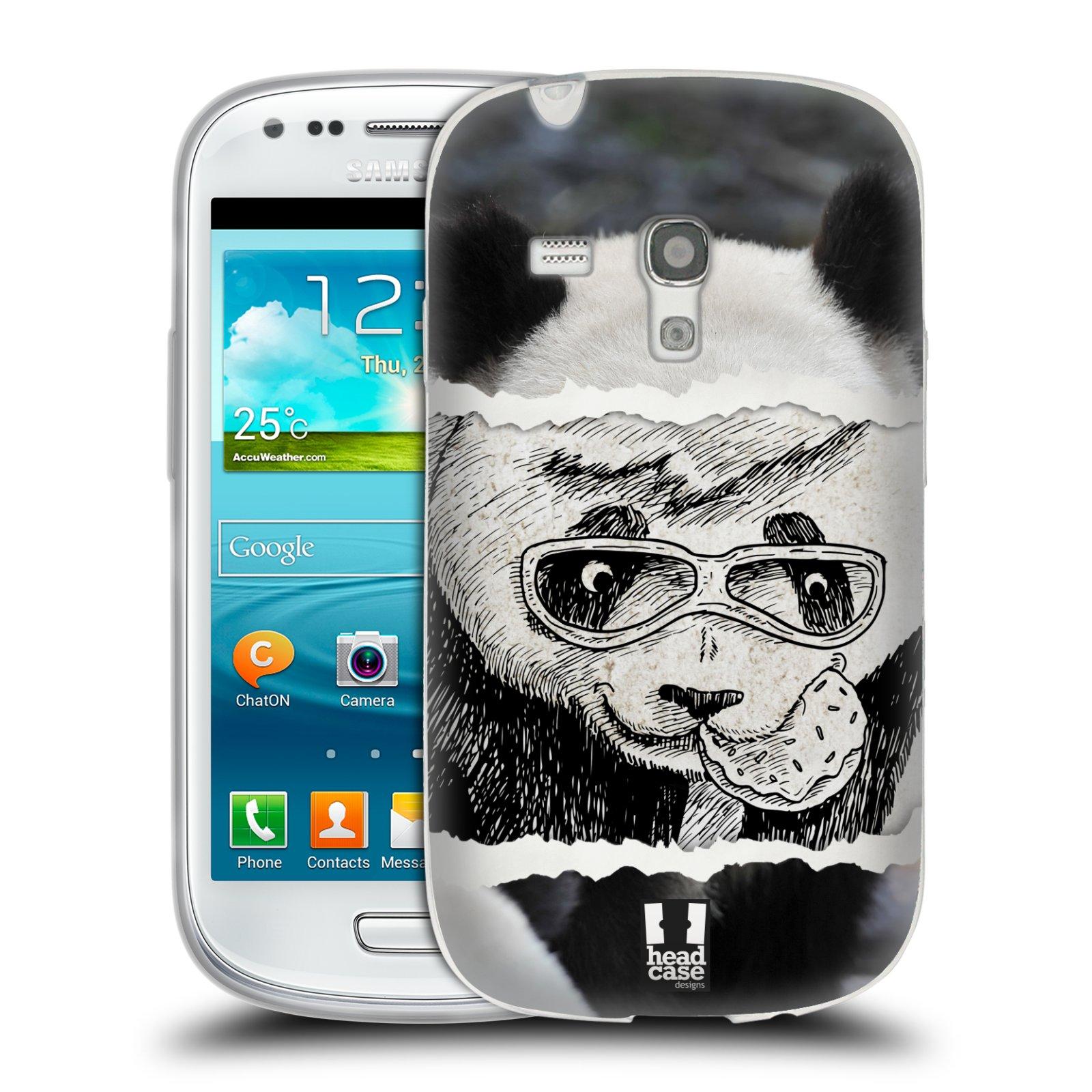 HEAD CASE silikonový obal na mobil Samsung Galaxy S3 MINI i8190 vzor zvířata koláž roztomilá panda