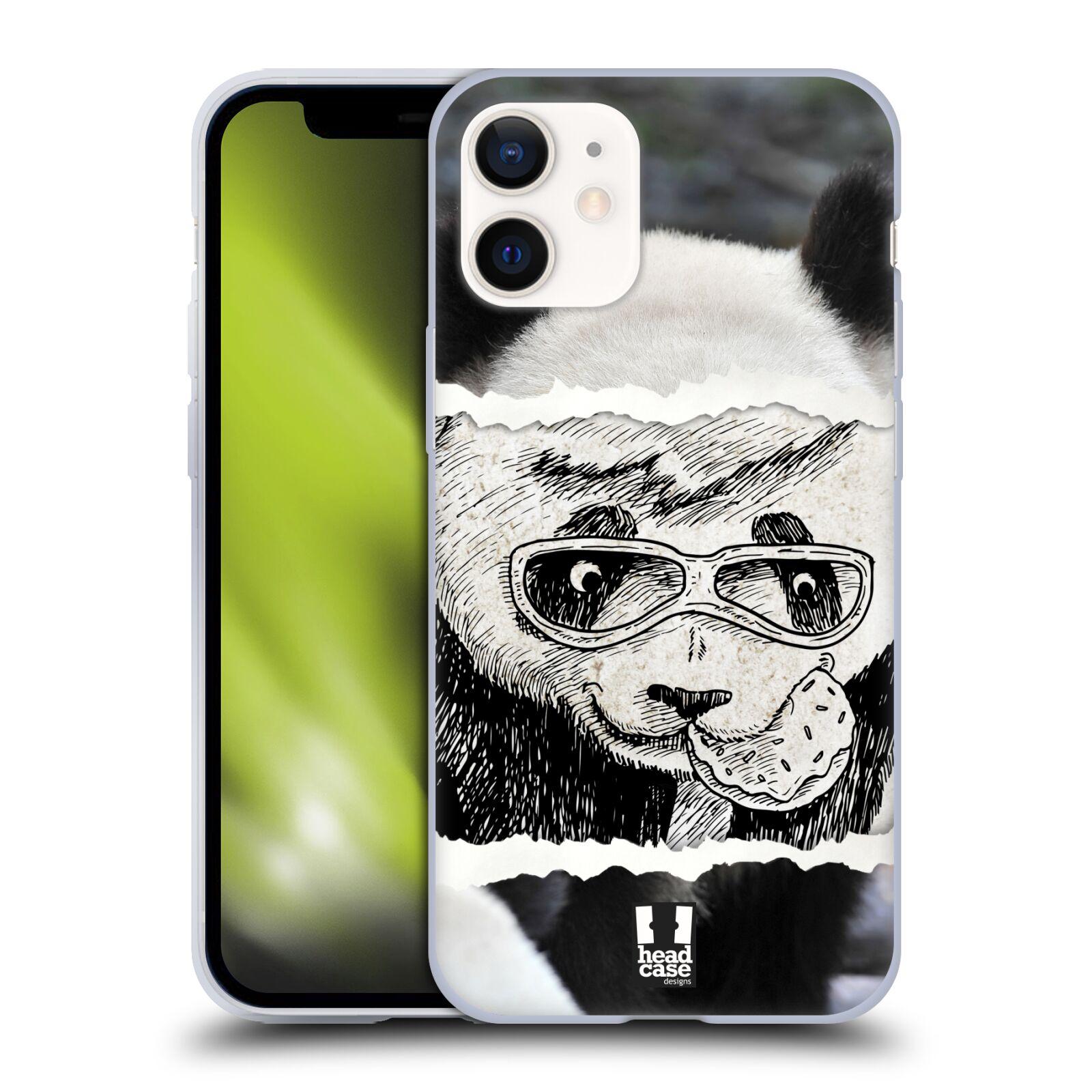 Plastový obal na mobil Apple Iphone 12 MINI vzor zvířata koláž roztomilá panda