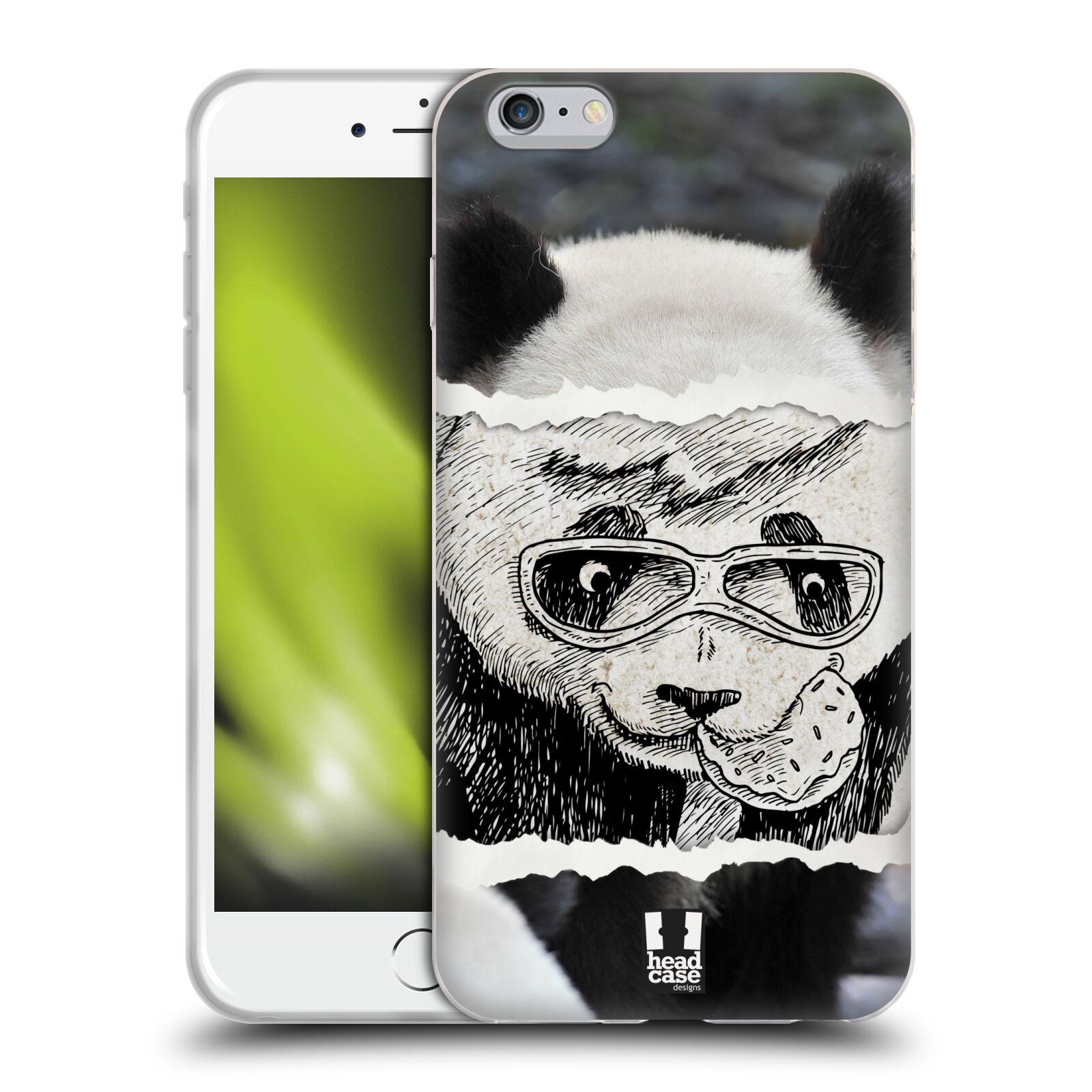 HEAD CASE silikonový obal na mobil Apple Iphone 6 PLUS/ 6S PLUS vzor zvířata koláž roztomilá panda