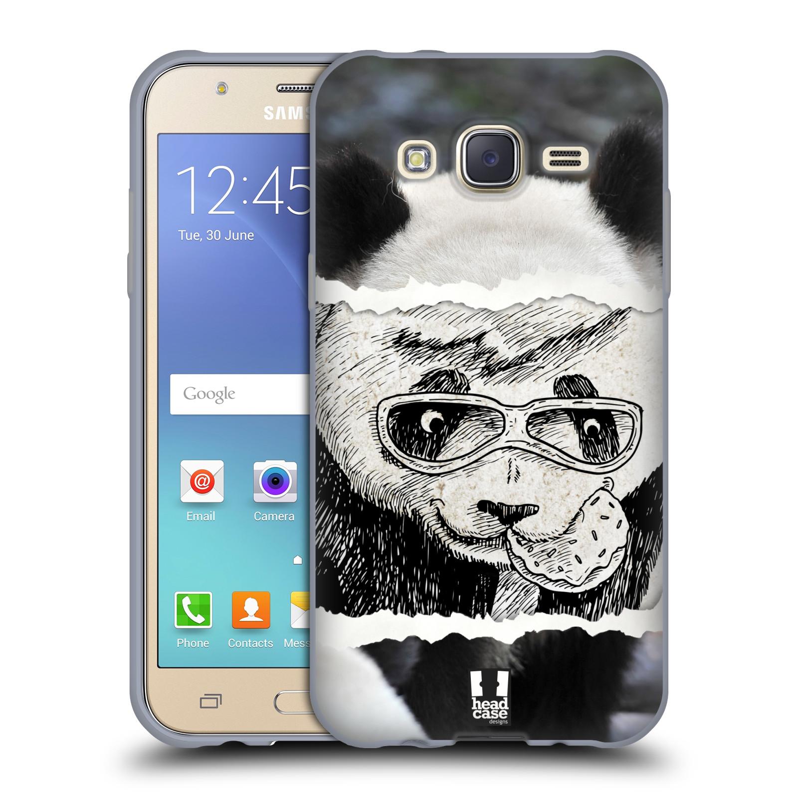 HEAD CASE silikonový obal na mobil Samsung Galaxy J5, J500, (J5 DUOS) vzor zvířata koláž roztomilá panda