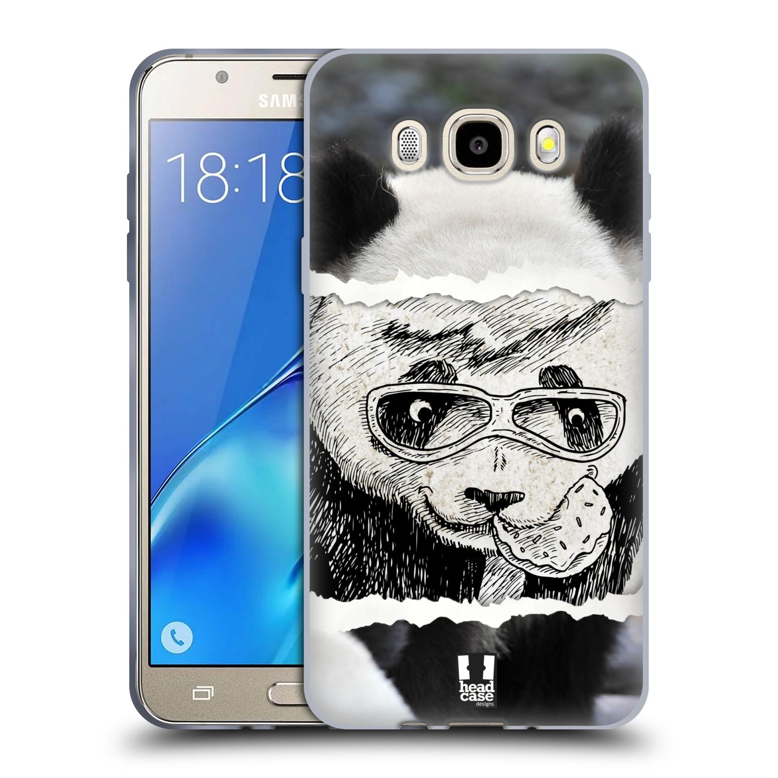 HEAD CASE silikonový obal, kryt na mobil Samsung Galaxy J5 2016, J510, J510F, (J510F DUAL SIM) vzor zvířata koláž roztomilá panda