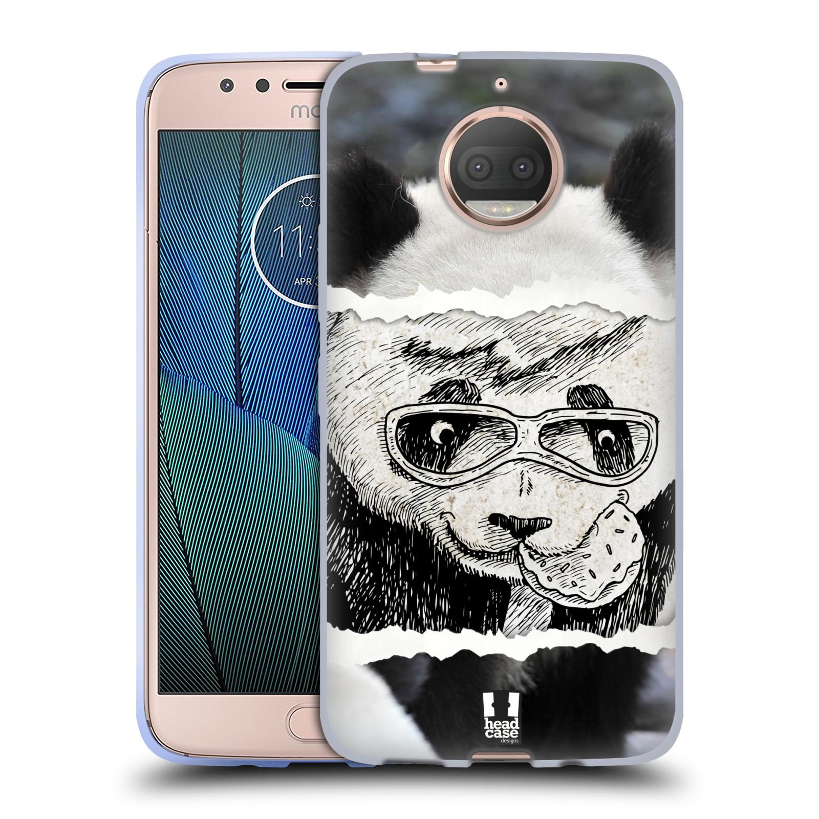 HEAD CASE silikonový obal na mobil Lenovo Moto G5s PLUS vzor zvířata koláž roztomilá panda
