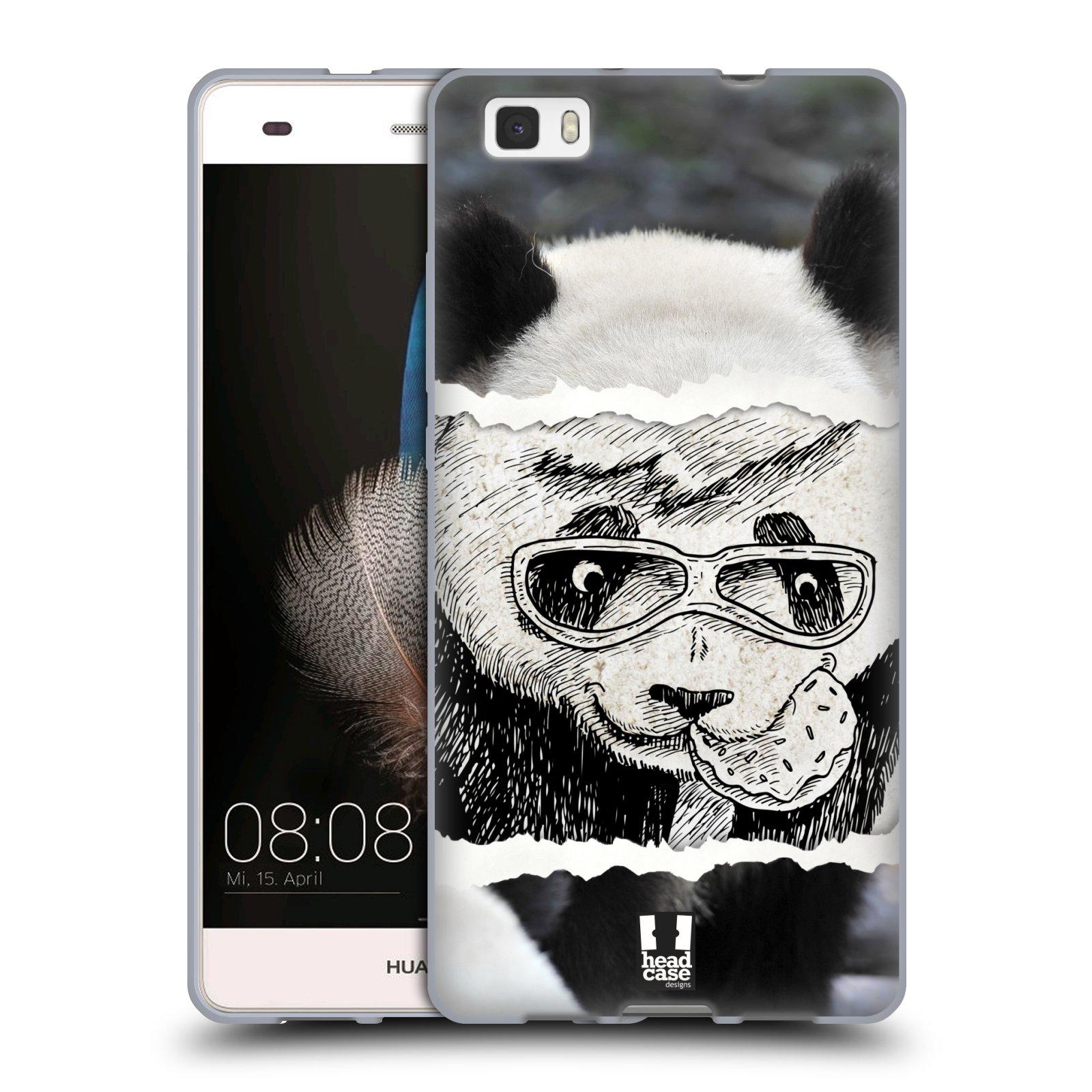 HEAD CASE silikonový obal na mobil HUAWEI P8 LITE vzor zvířata koláž roztomilá panda
