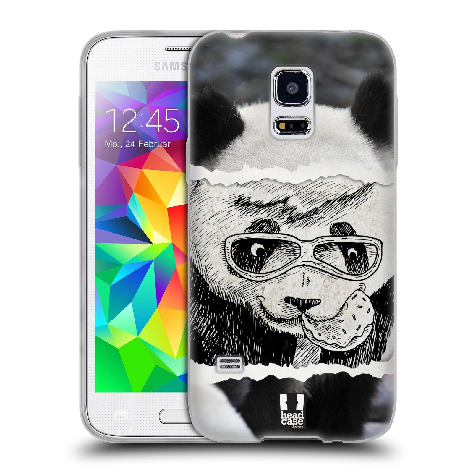 HEAD CASE silikonový obal na mobil Samsung Galaxy S5 MINI vzor zvířata koláž roztomilá panda