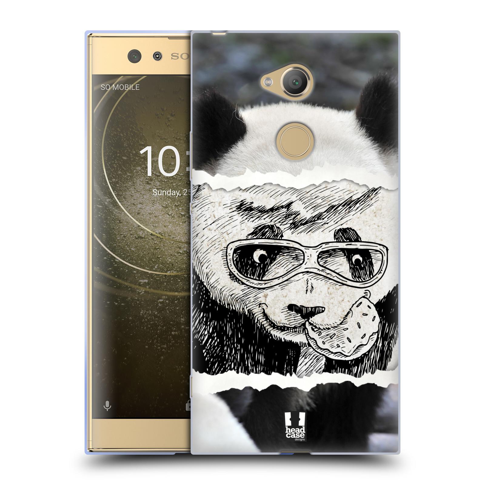 Pouzdro na mobil Sony Xperia XA2 Ultra vzor zvířata koláž roztomilá panda