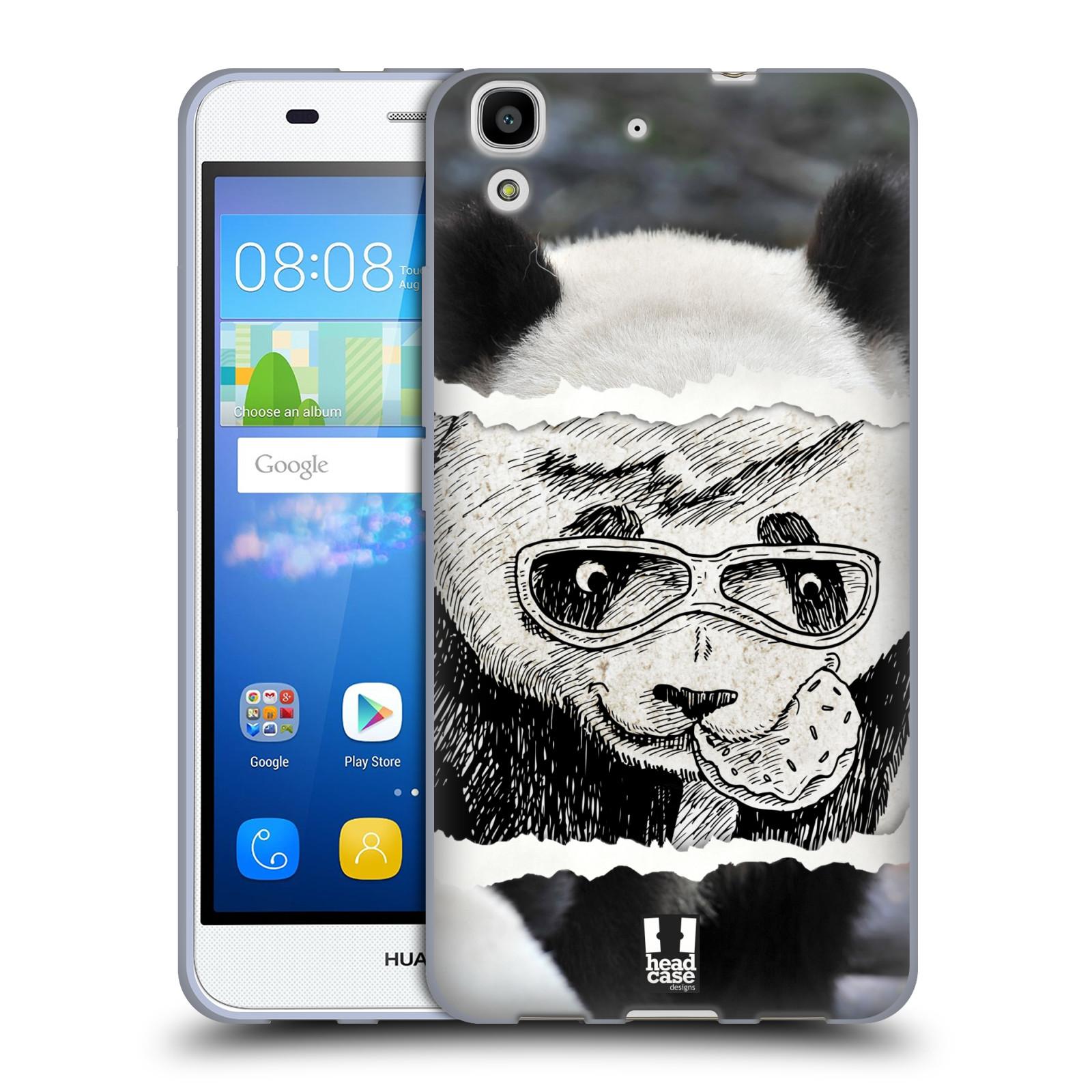 HEAD CASE silikonový obal na mobil HUAWEI Y6 vzor zvířata koláž roztomilá panda