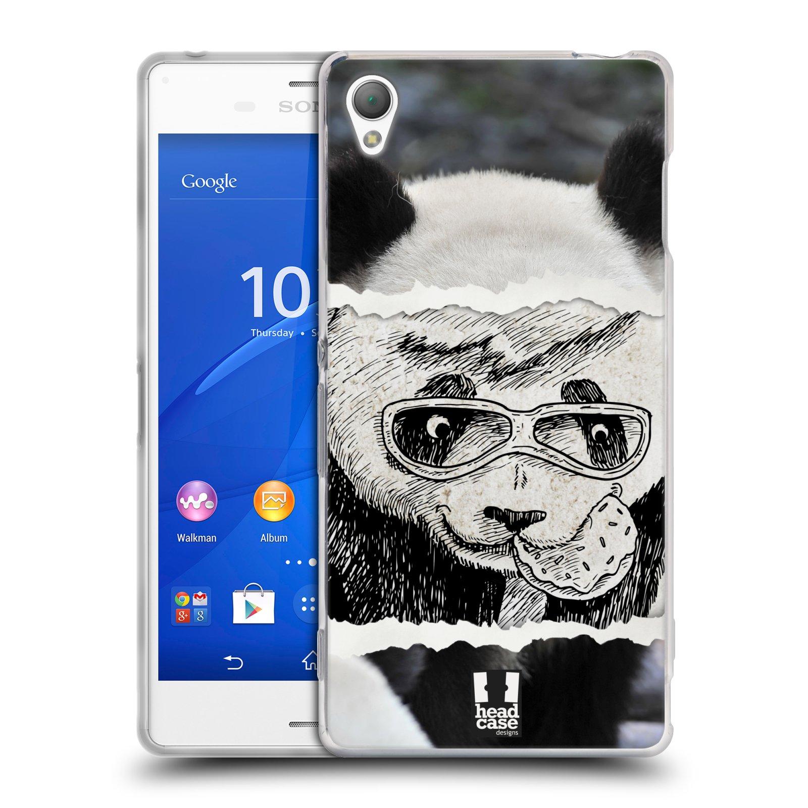 HEAD CASE silikonový obal na mobil Sony Xperia Z3 vzor zvířata koláž roztomilá panda