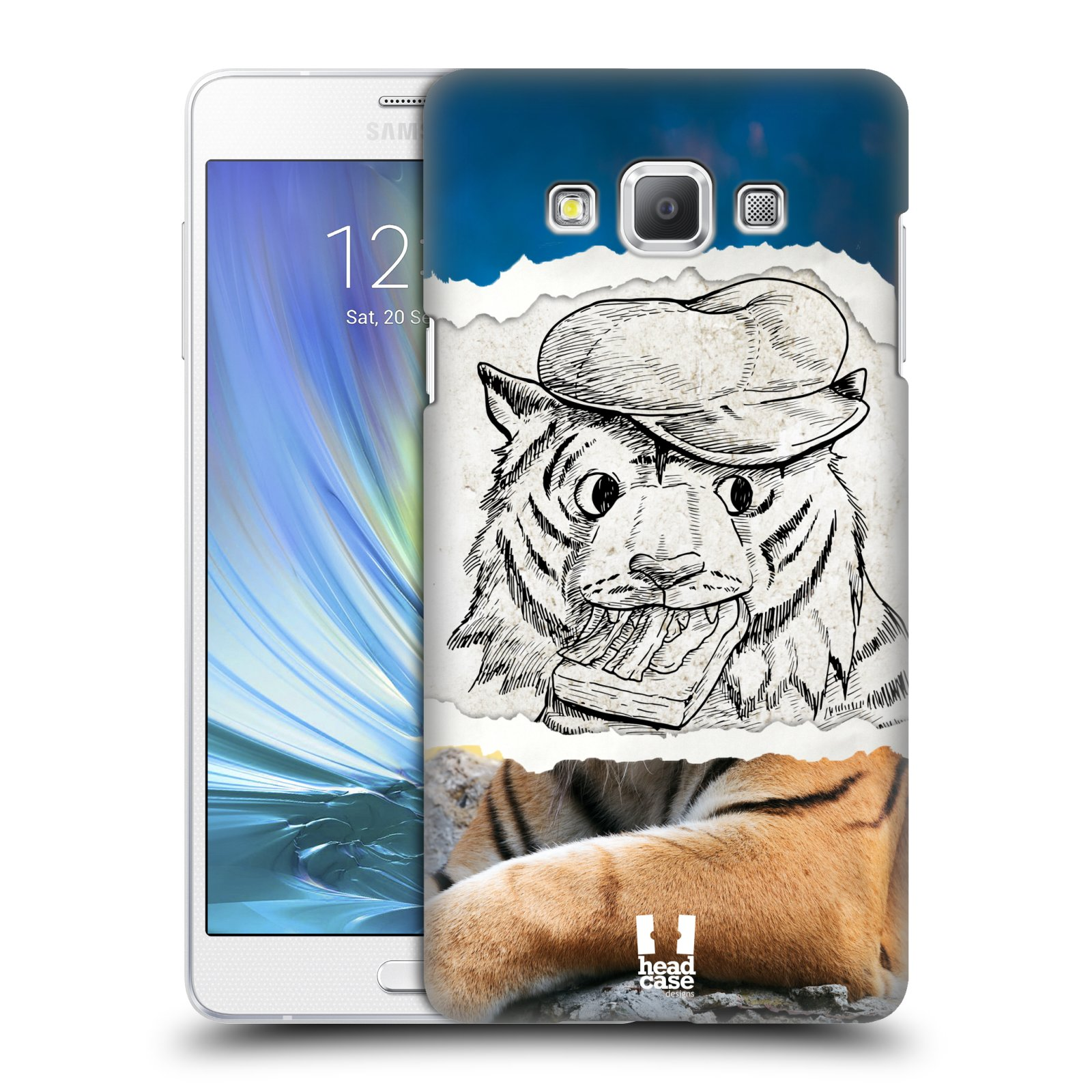 HEAD CASE plastový obal na mobil SAMSUNG GALAXY A7 vzor zvířata koláž tygr fešák