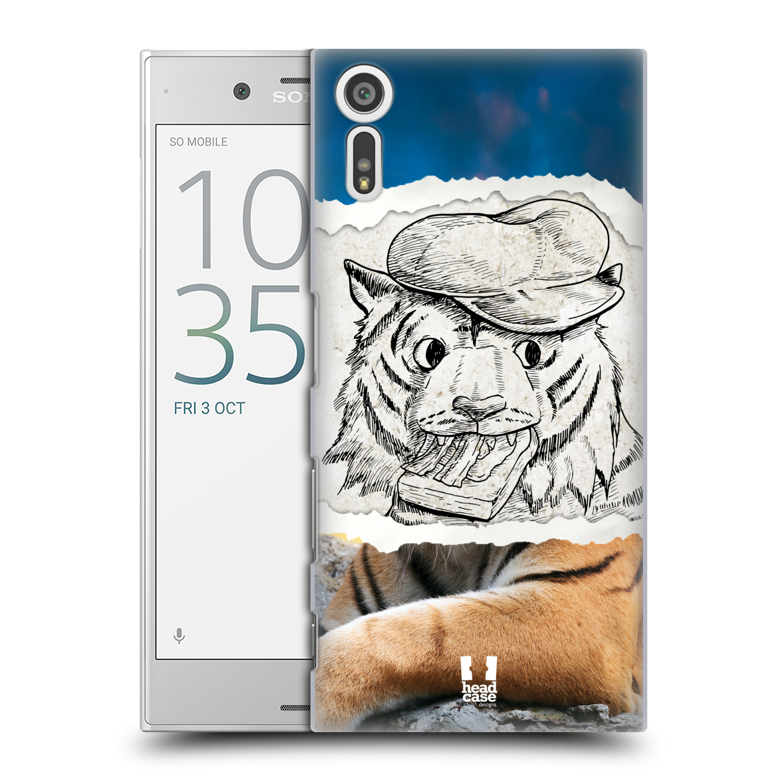 HEAD CASE plastový obal na mobil Sony Xperia XZ vzor zvířata koláž tygr fešák