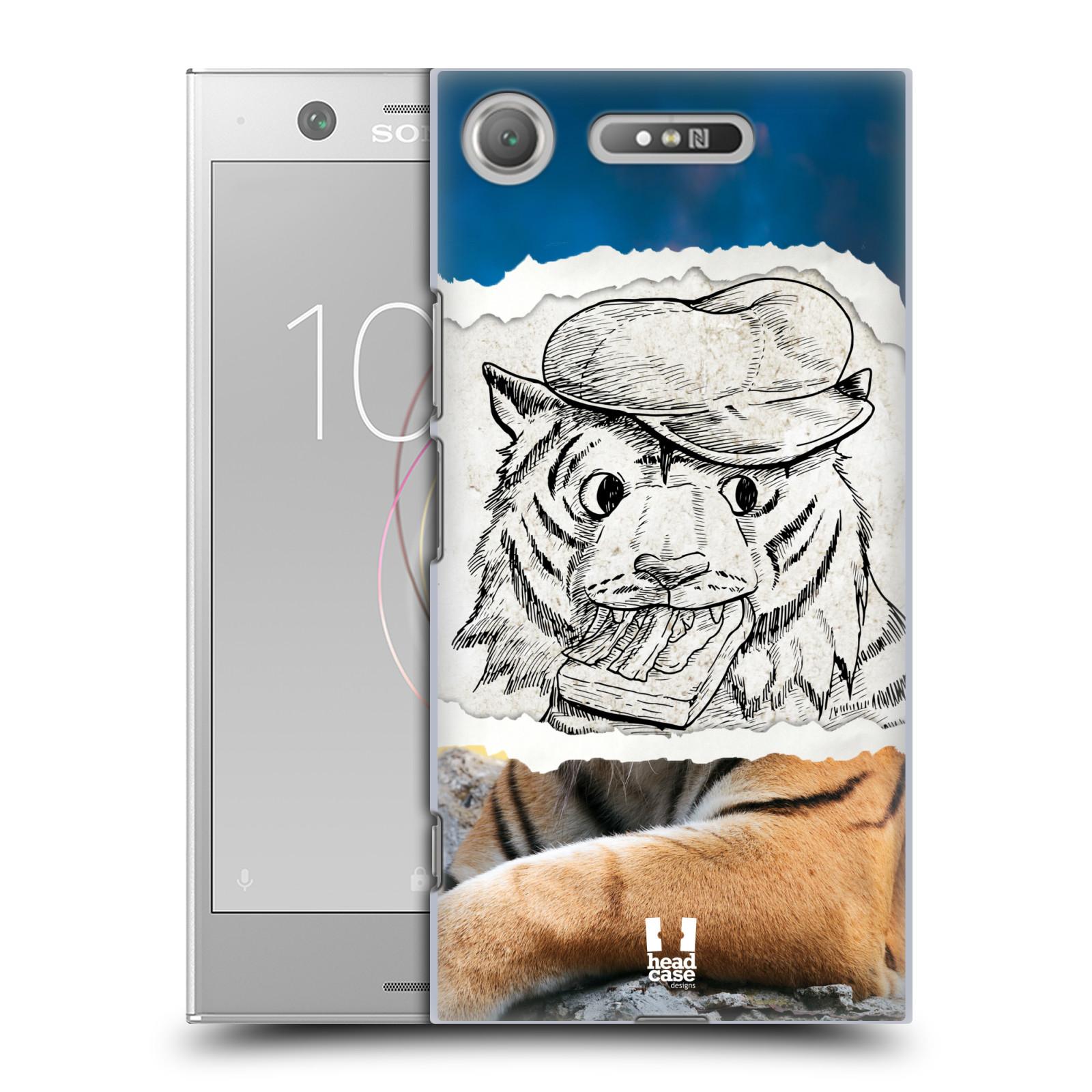 HEAD CASE plastový obal na mobil Sony Xperia XZ1 vzor zvířata koláž tygr fešák