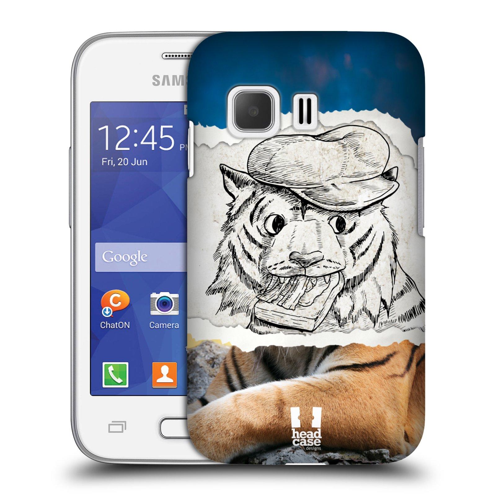 HEAD CASE plastový obal na mobil SAMSUNG Galaxy Young 2 (G130) vzor zvířata koláž tygr fešák