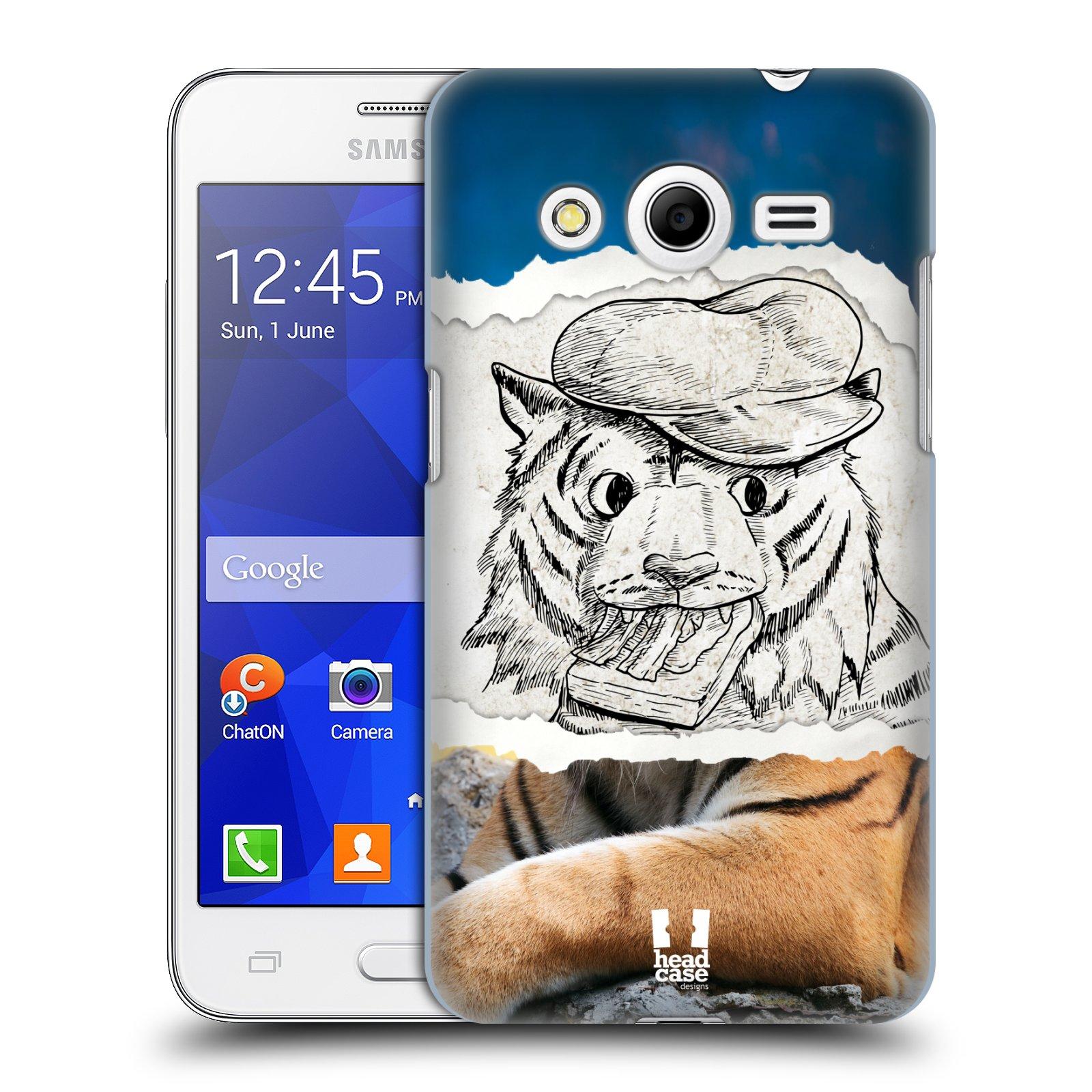 HEAD CASE plastový obal na mobil SAMSUNG GALAXY Core 2 (G355H) vzor zvířata koláž tygr fešák