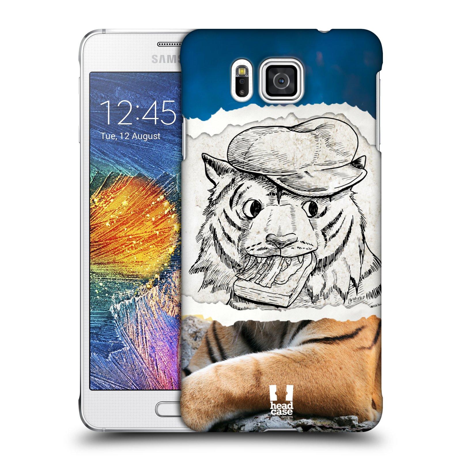 HEAD CASE plastový obal na mobil SAMSUNG Galaxy Alpha (G850) vzor zvířata koláž tygr fešák