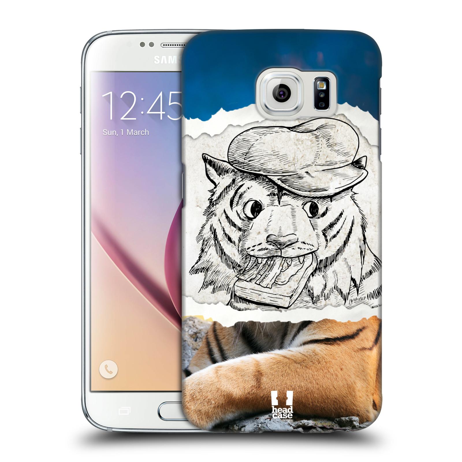 HEAD CASE plastový obal na mobil SAMSUNG Galaxy S6 (G9200, G920F) vzor zvířata koláž tygr fešák