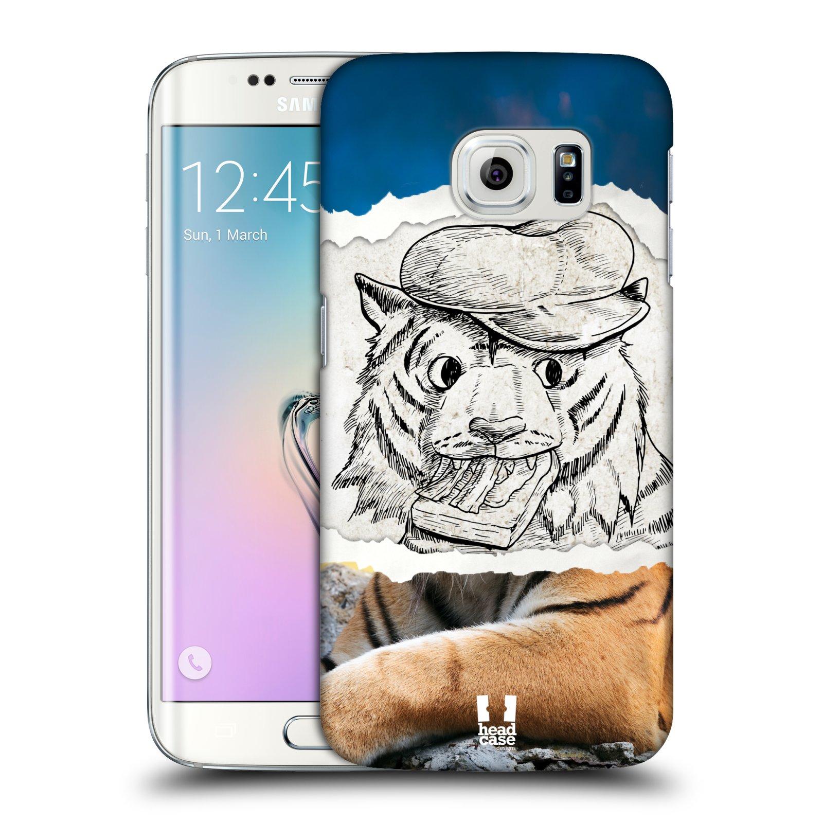 HEAD CASE plastový obal na mobil SAMSUNG Galaxy S6 EDGE (G9250, G925, G925F) vzor zvířata koláž tygr fešák